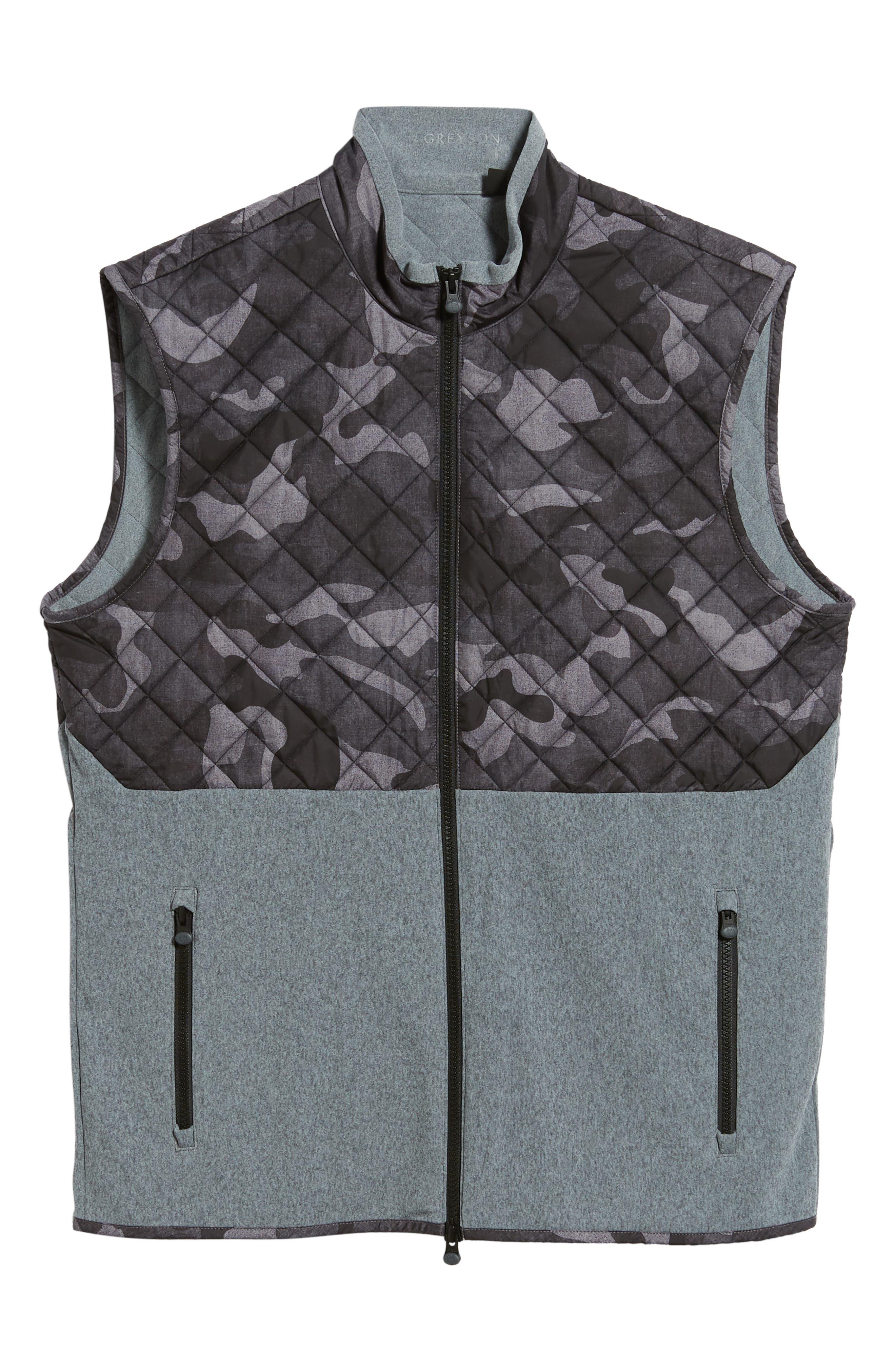 Huron Hybrid Vest,                             Alternate thumbnail 6, color,                             GREY HEATHER/ GREY CAMO