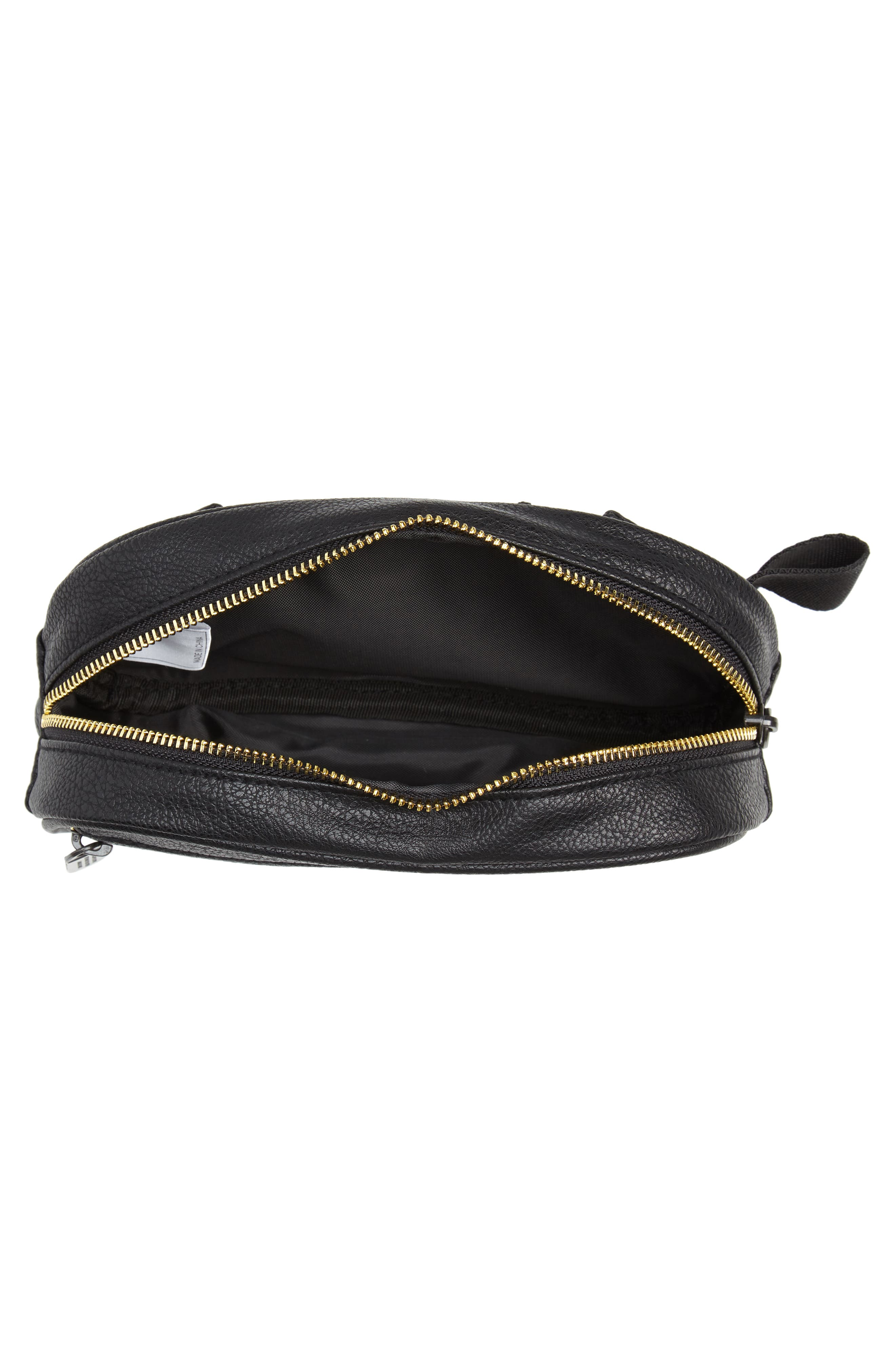 adidas Ori Faux Leather Fanny Pack,                             Alternate thumbnail 5, color,                             001
