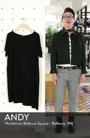 Asymmetrical Stretch Jersey Shift Dress, sales video thumbnail