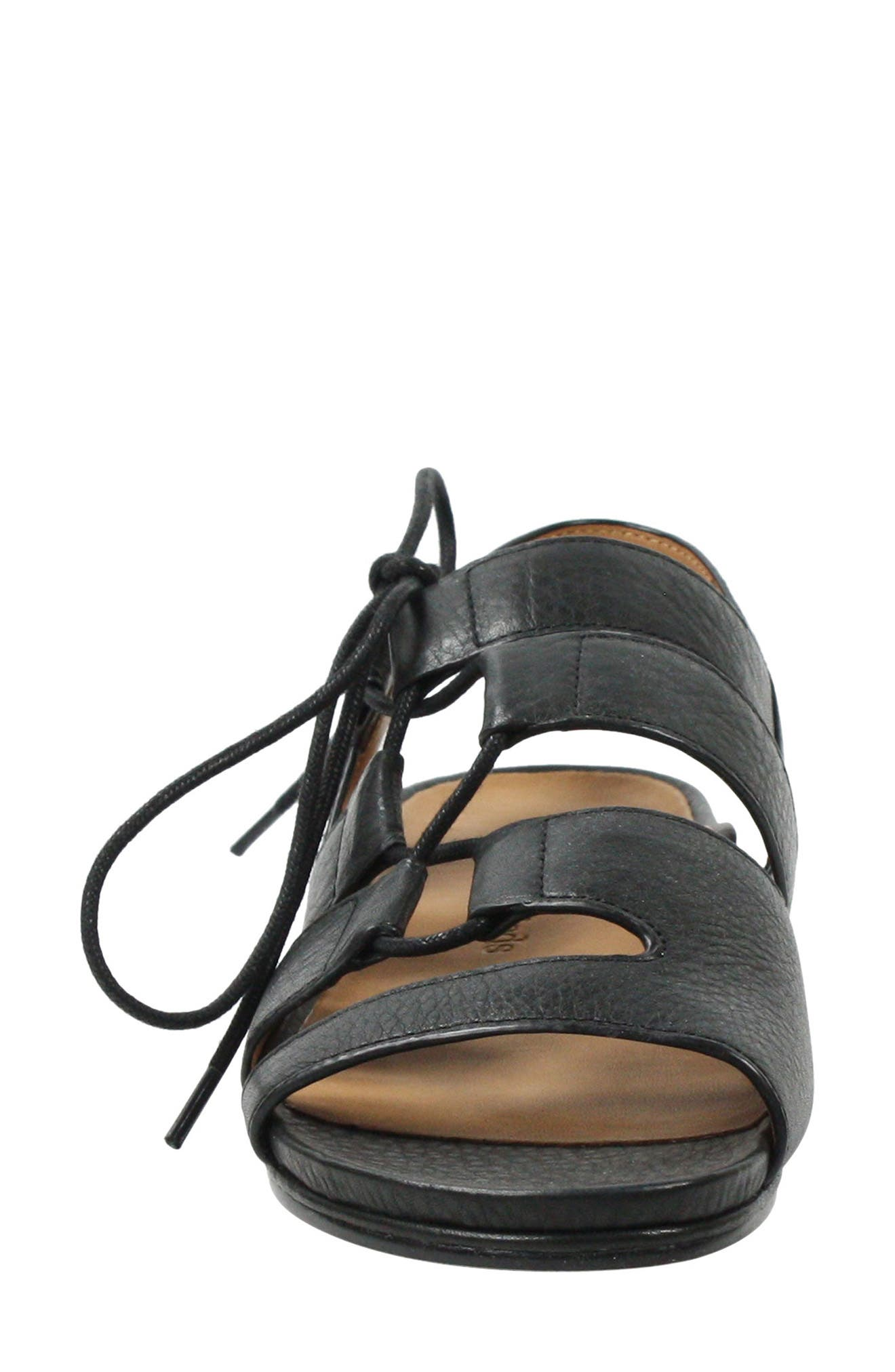 Digbee Sandal,                             Alternate thumbnail 4, color,                             BLACK LEATHER