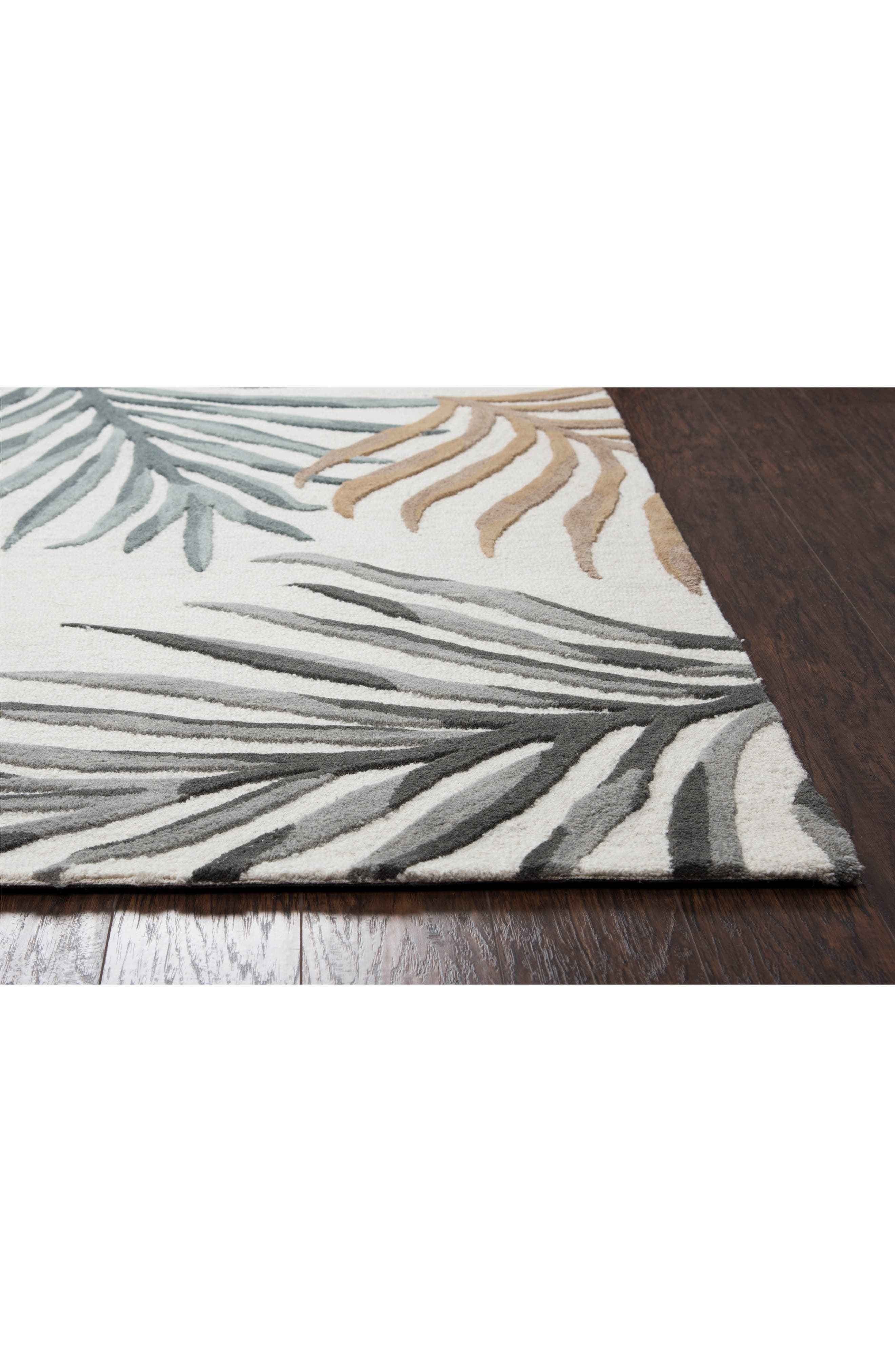 Palm Hand Tufted Wool Area Rug,                             Alternate thumbnail 2, color,                             900