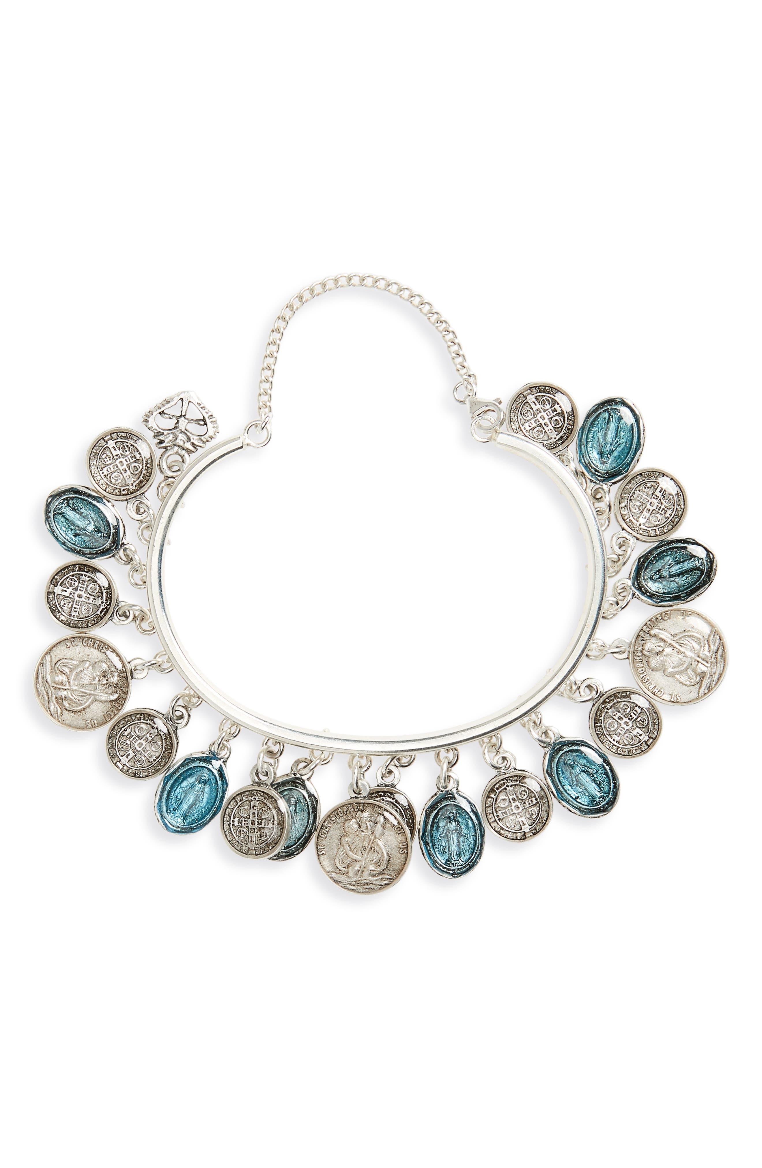 Les Celeste Charm Bracelet,                             Main thumbnail 1, color,