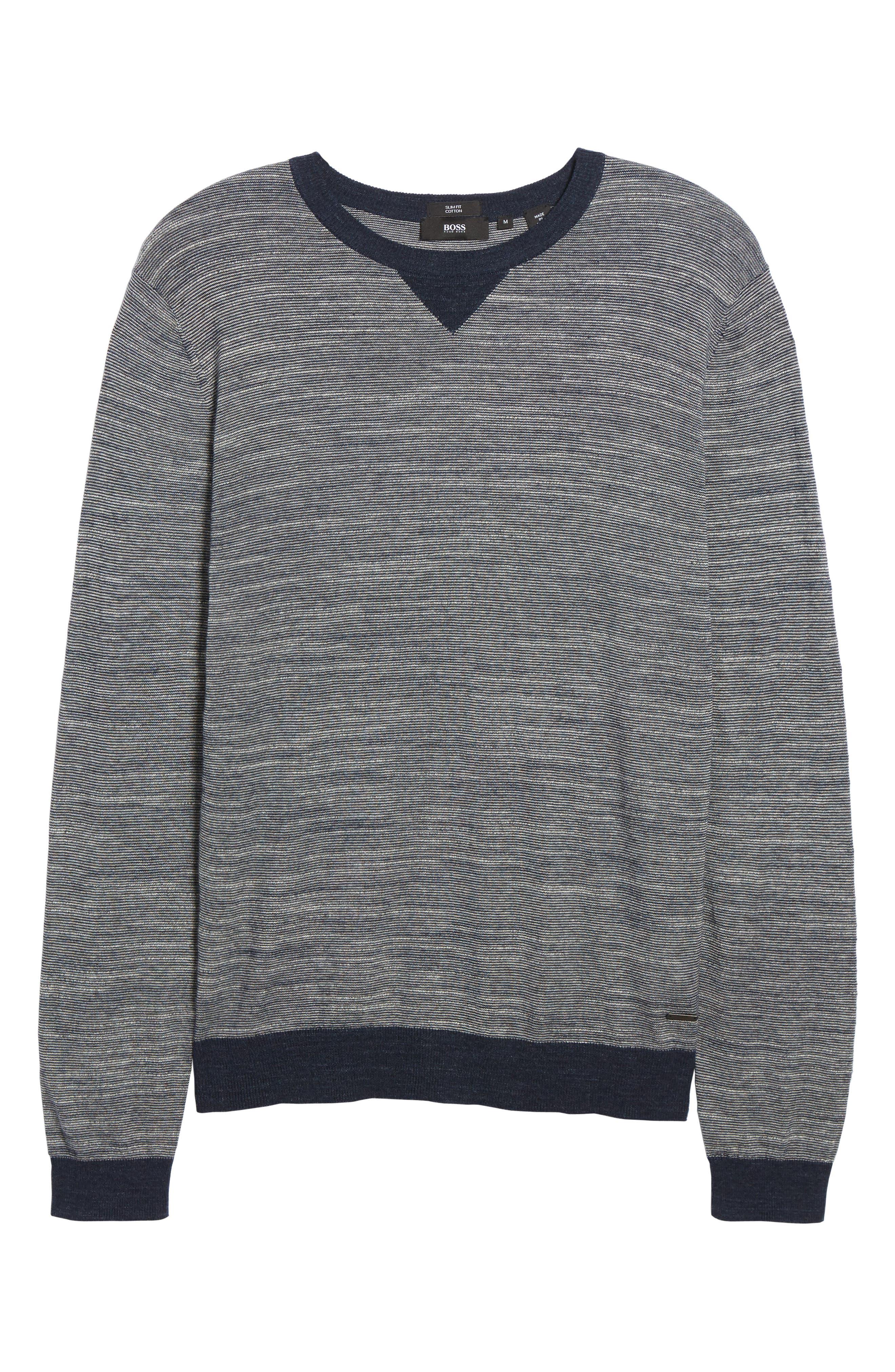 Pintor Slim Fit Fineline Stripe Sweater,                             Alternate thumbnail 12, color,