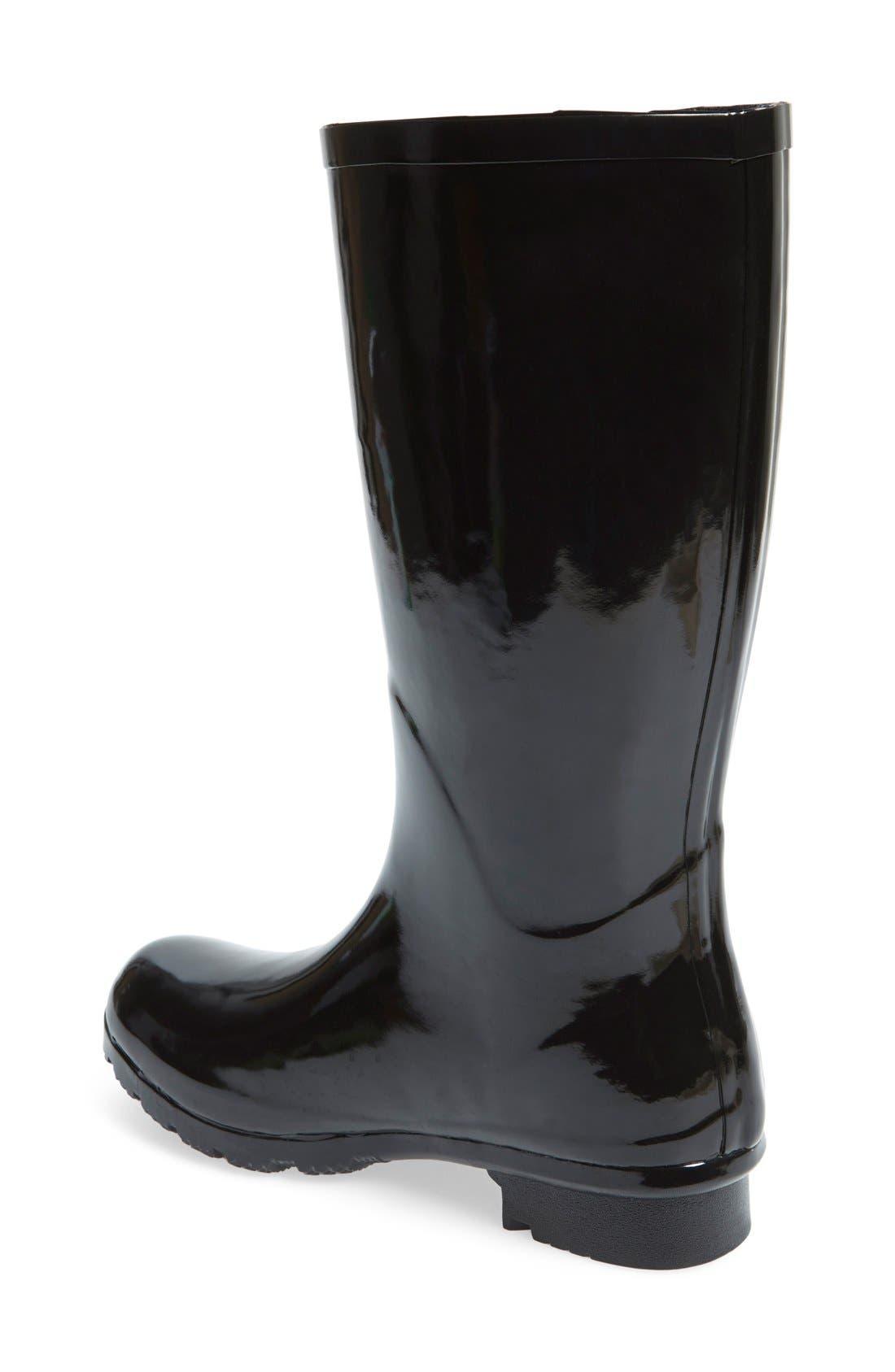 'Emma - Short' Glossy Rain Boot,                             Alternate thumbnail 5, color,