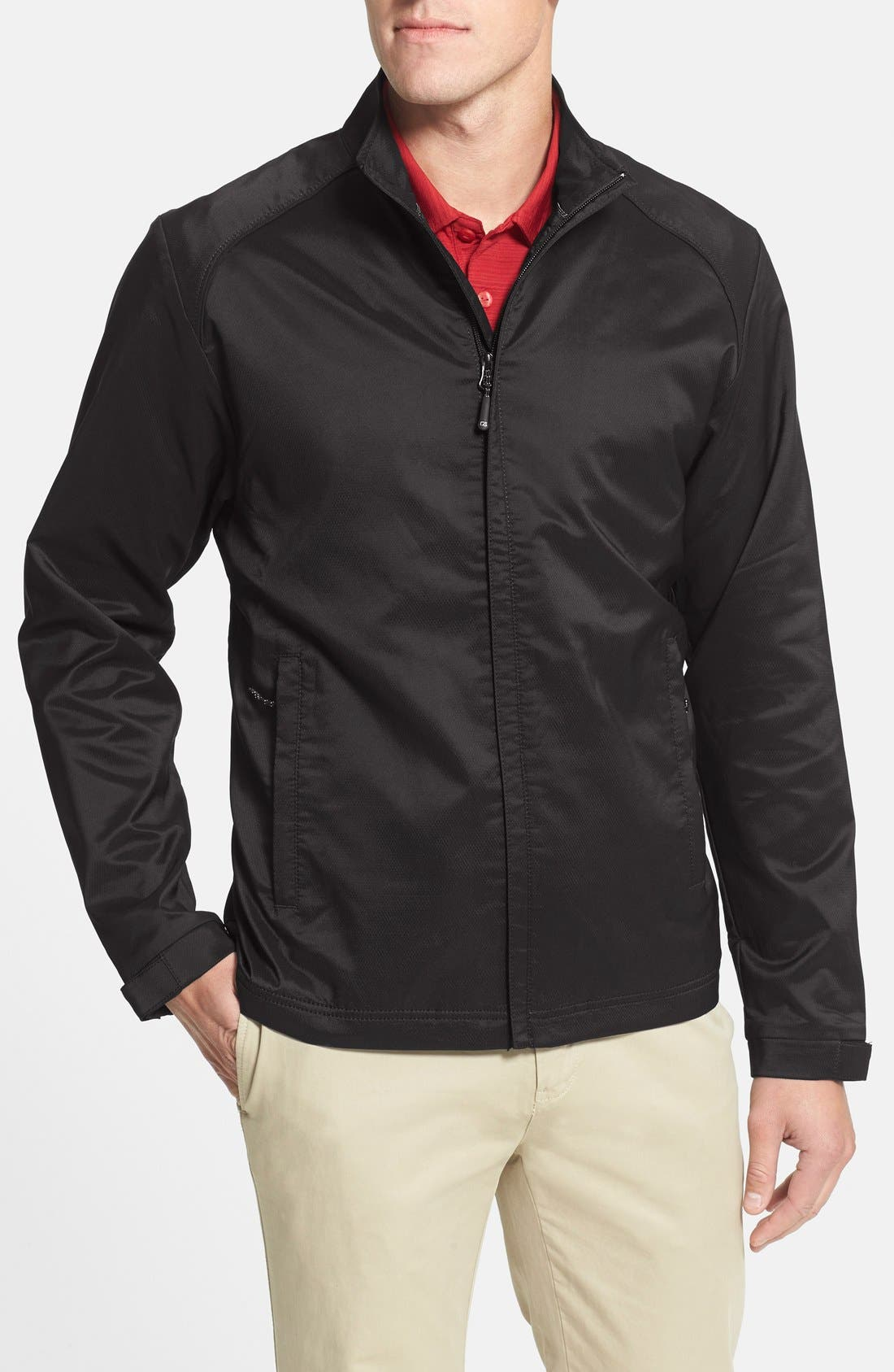 'Blakely' WeatherTec<sup>®</sup> Wind & Water Resistant Full Zip Jacket,                             Main thumbnail 1, color,                             BLACK