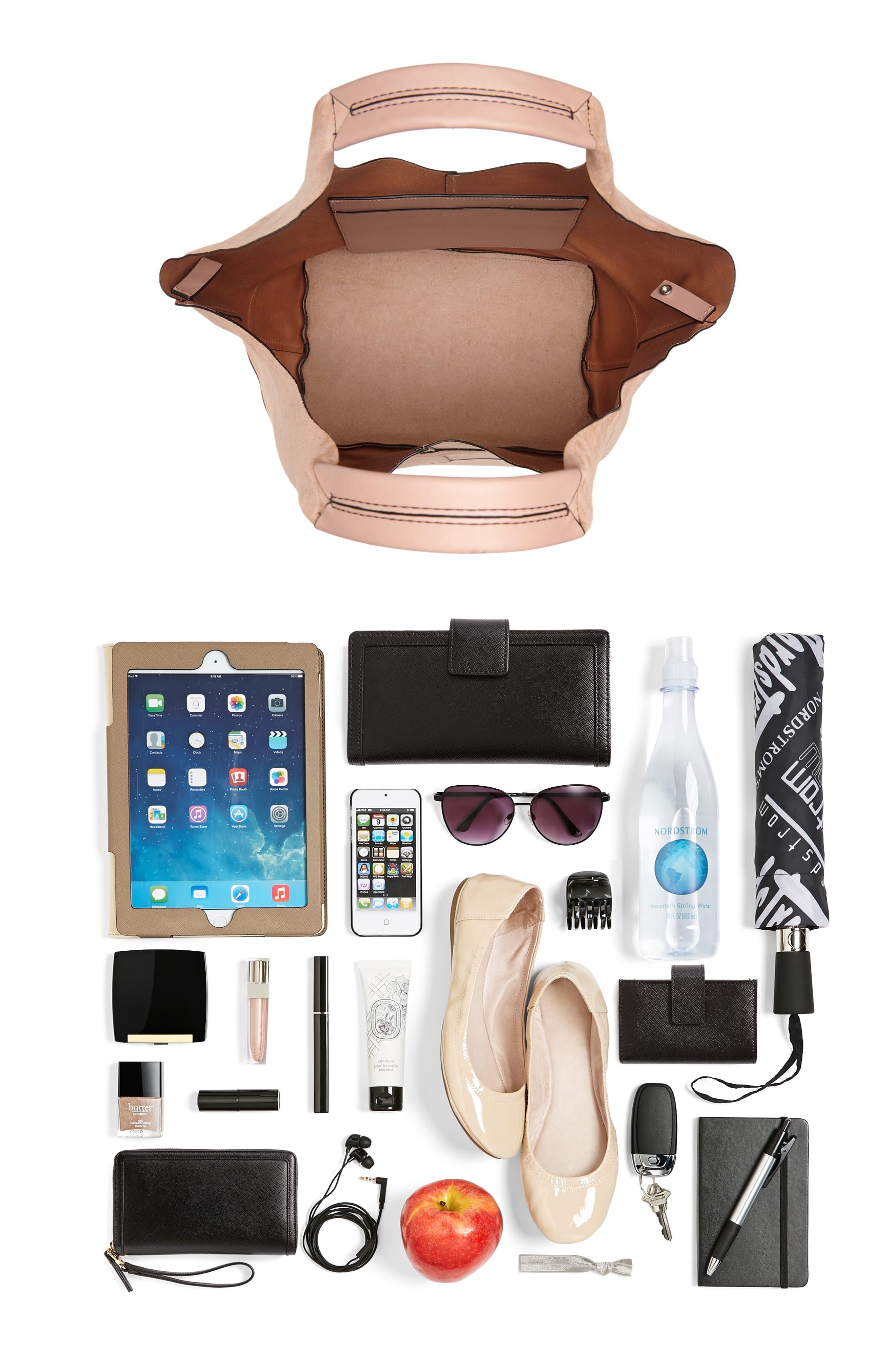 Camden Shopper Bag,                             Alternate thumbnail 7, color,                             NUDE SUEDE