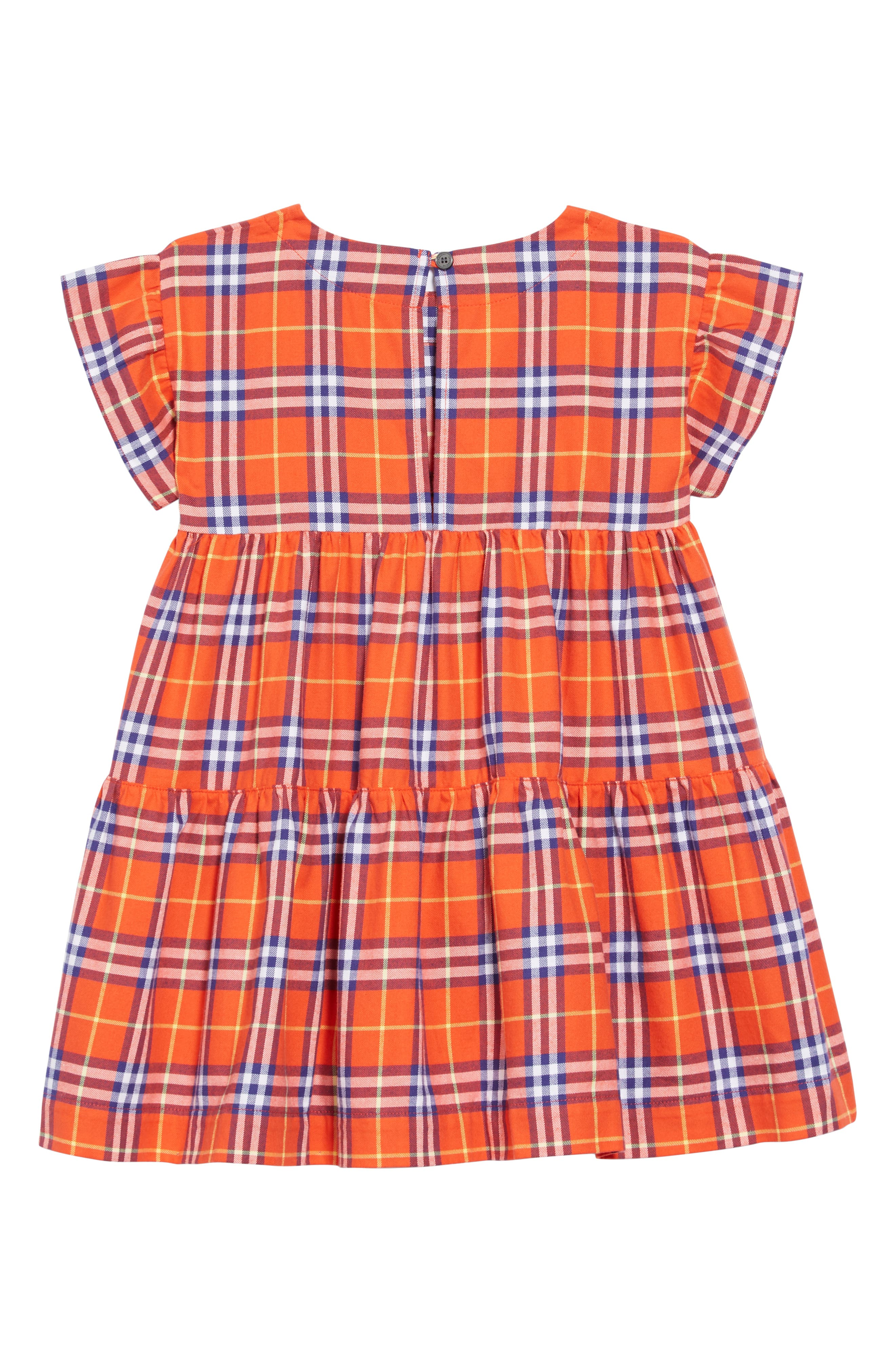 Alima Check Dress,                             Alternate thumbnail 2, color,                             ORANGE RED CHECK