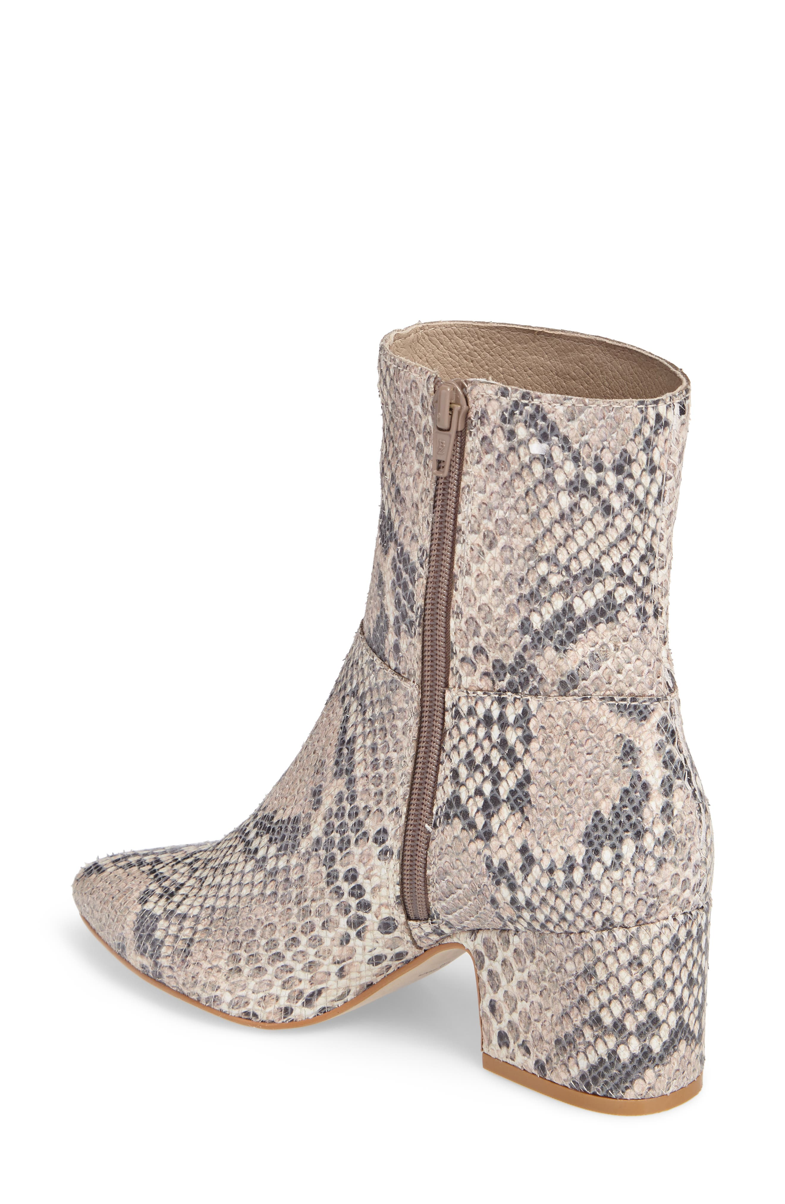At Ease Genuine Calf Hair Bootie,                             Alternate thumbnail 2, color,                             NATURAL SNAKE LEATHER