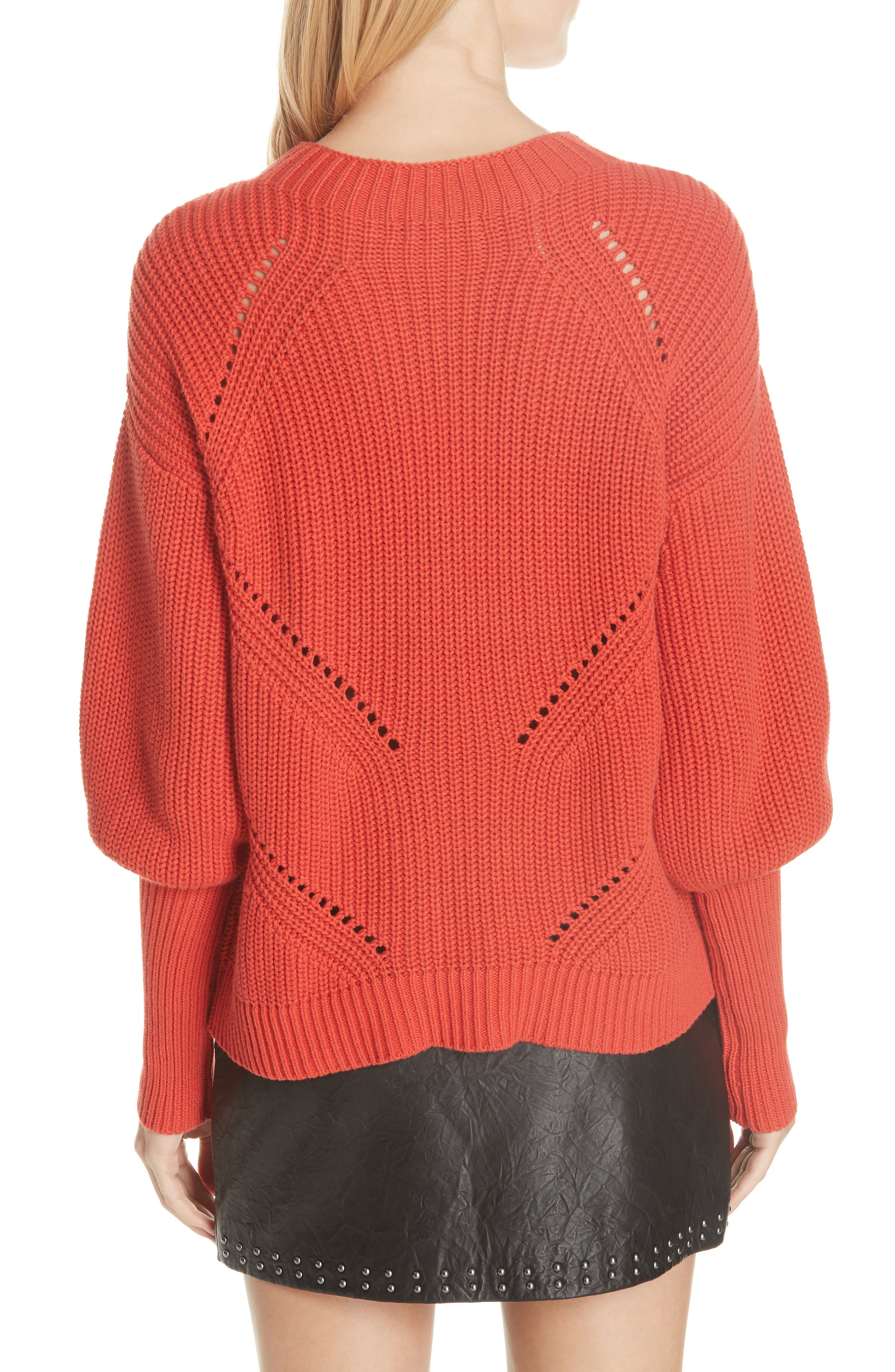 Landyn Blouson Sleeve Sweater,                             Alternate thumbnail 2, color,                             600