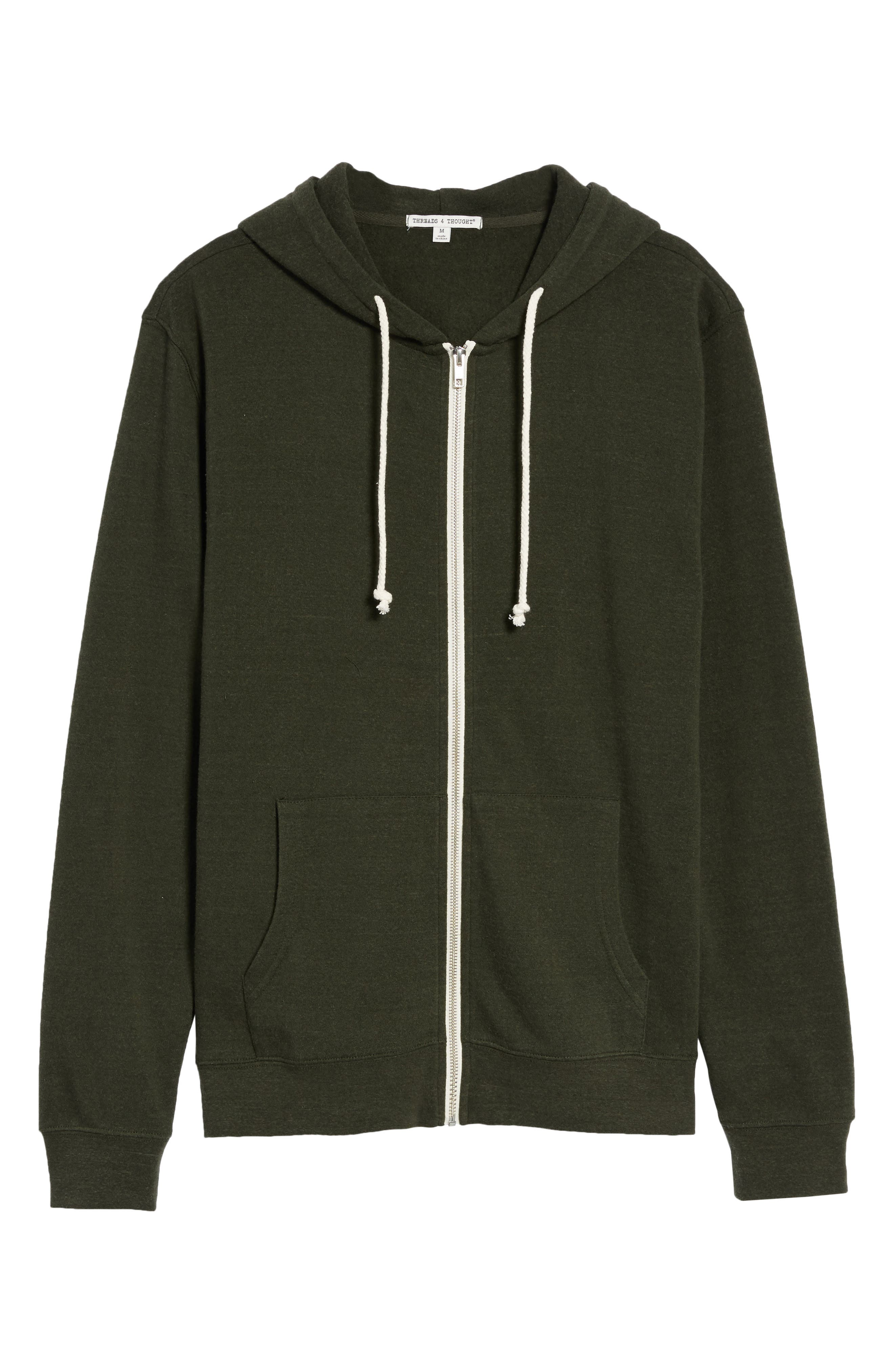 Threads for Thought Trim Fit Heathered Hoodie,                             Alternate thumbnail 61, color,