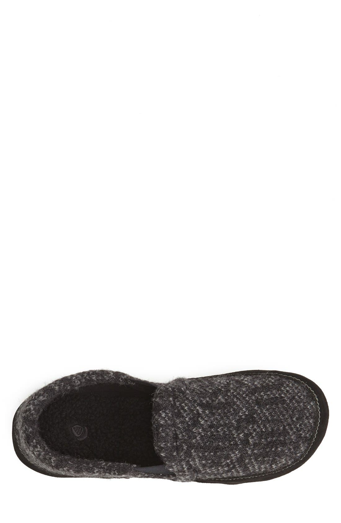'Fave' Slipper,                             Alternate thumbnail 3, color,                             CHARCOAL TWEED