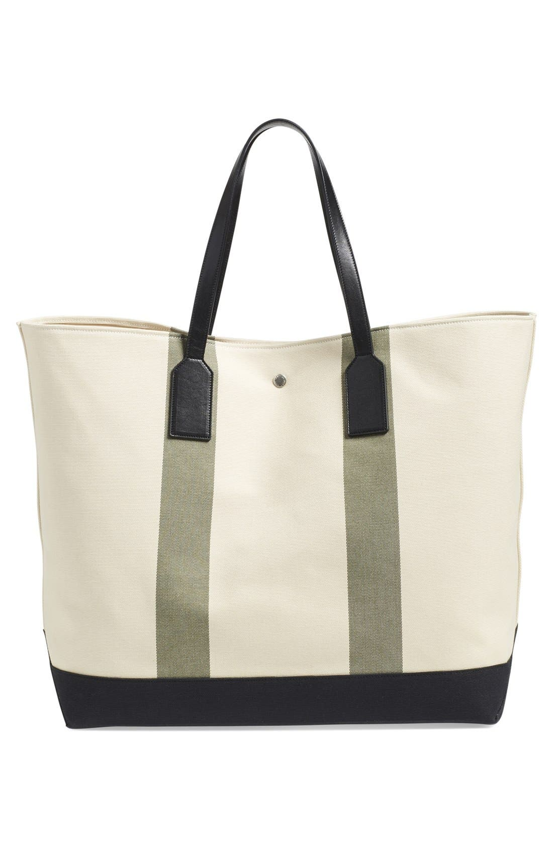 'Beach' Canvas Tote,                             Alternate thumbnail 8, color,