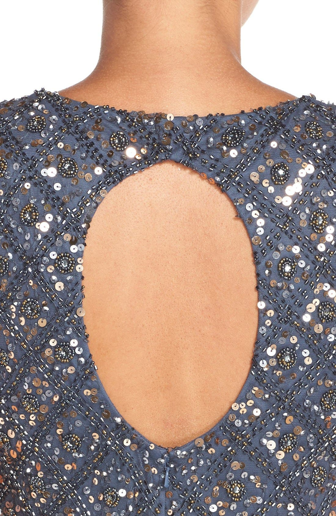 Embellished Mesh Gown,                             Alternate thumbnail 2, color,