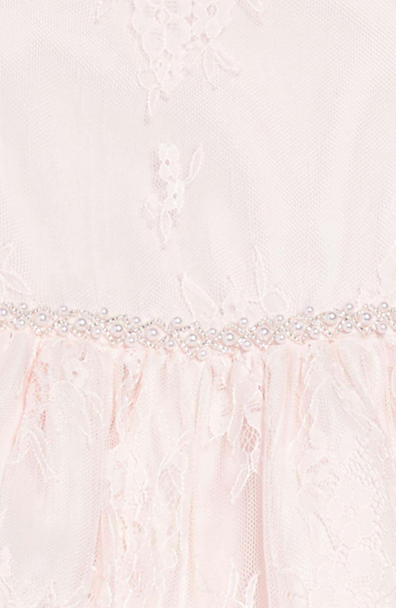 The Randi Floral Lace Dress,                             Alternate thumbnail 3, color,                             BLUSH