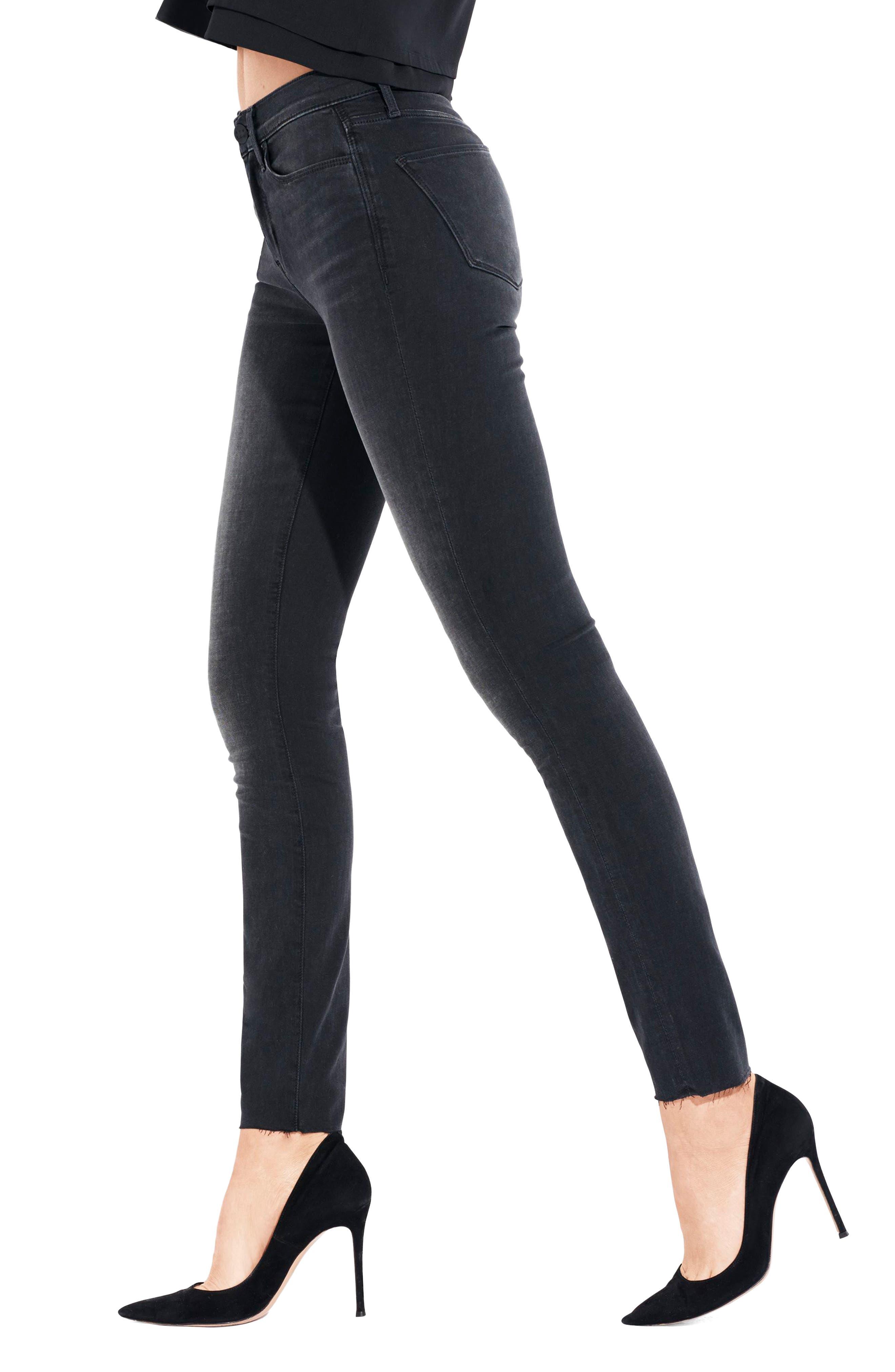 The Skinny Stretch Denim Jeans,                             Alternate thumbnail 6, color,                             001