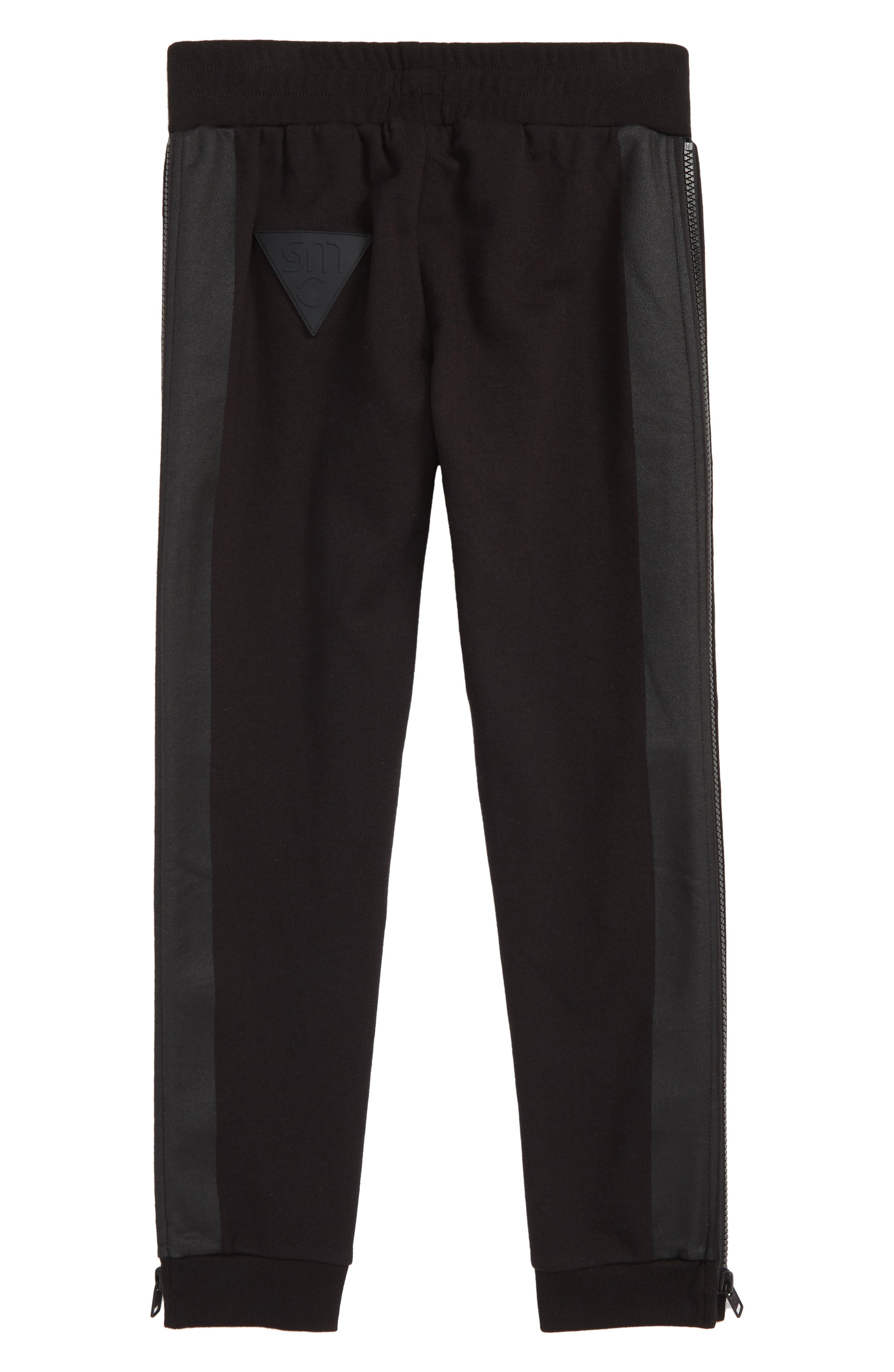 Stella McCartney Logo Sweatpants,                             Alternate thumbnail 2, color,                             BLACK
