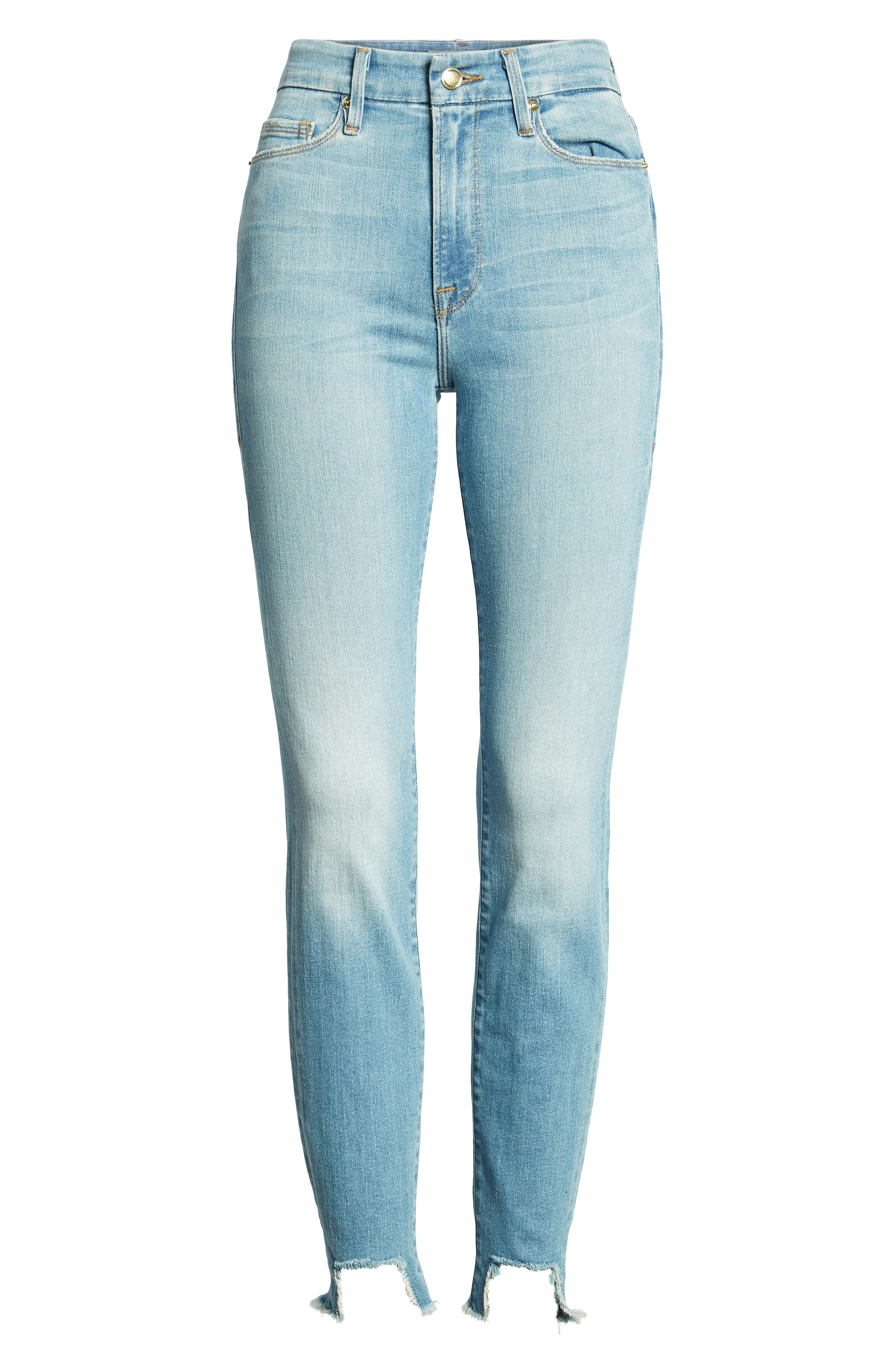 Good Waist Tunnel Hem Skinny Jeans,                             Alternate thumbnail 7, color,                             402