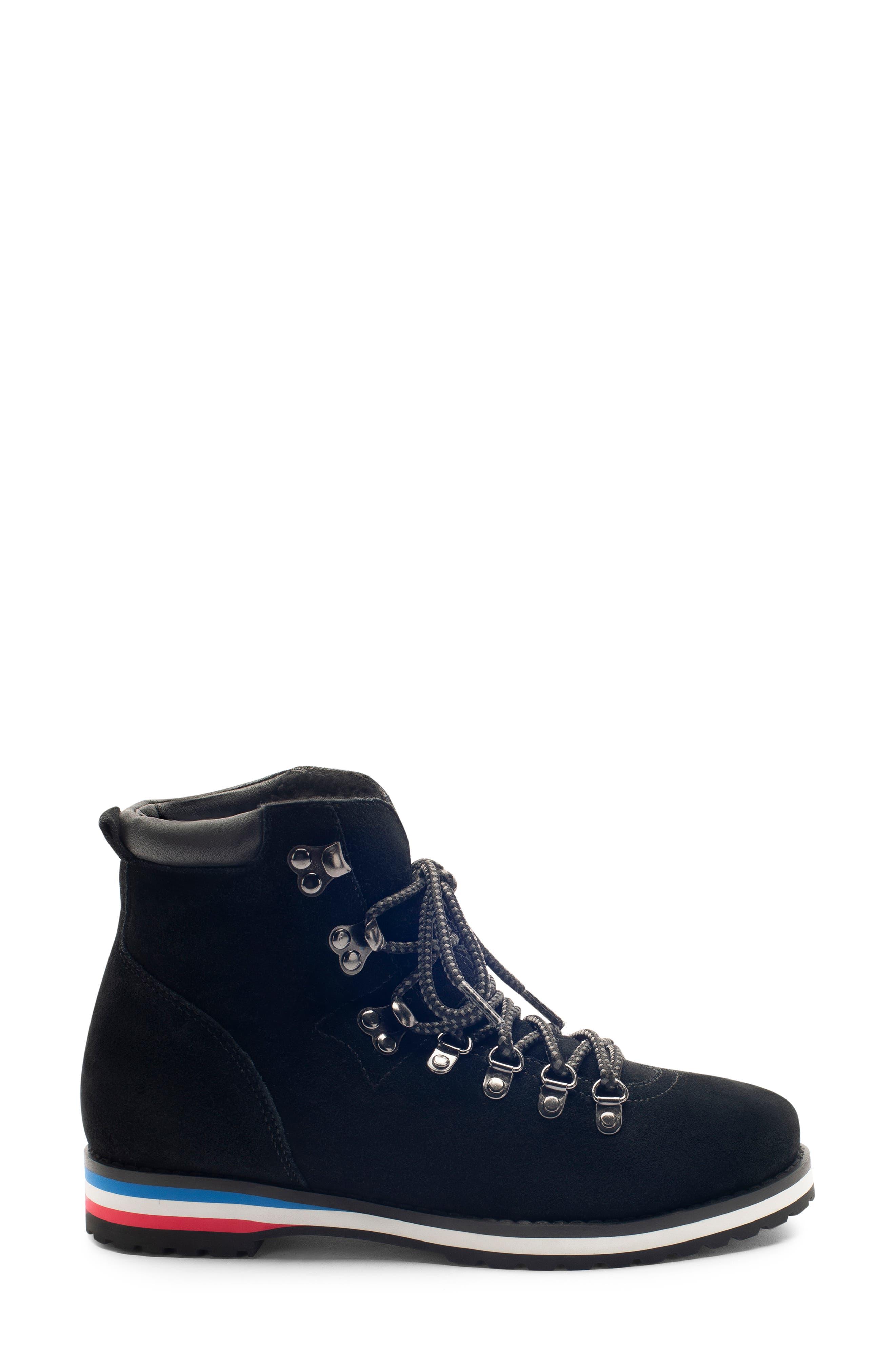 BLONDO,                             Regan Waterproof Boot,                             Alternate thumbnail 3, color,                             BLACK SUEDE
