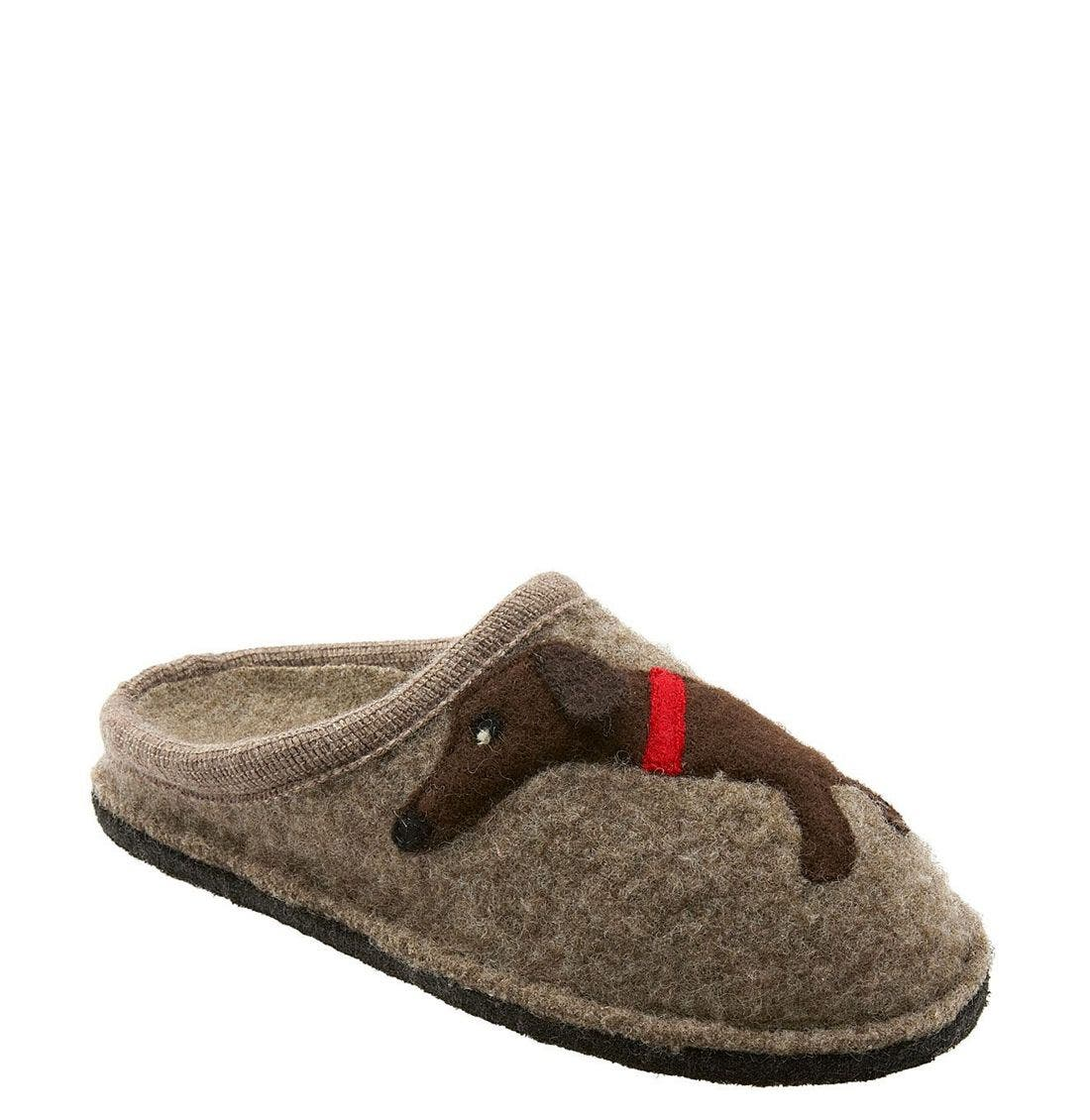 'Doggy' Slipper,                             Main thumbnail 1, color,                             EARTH