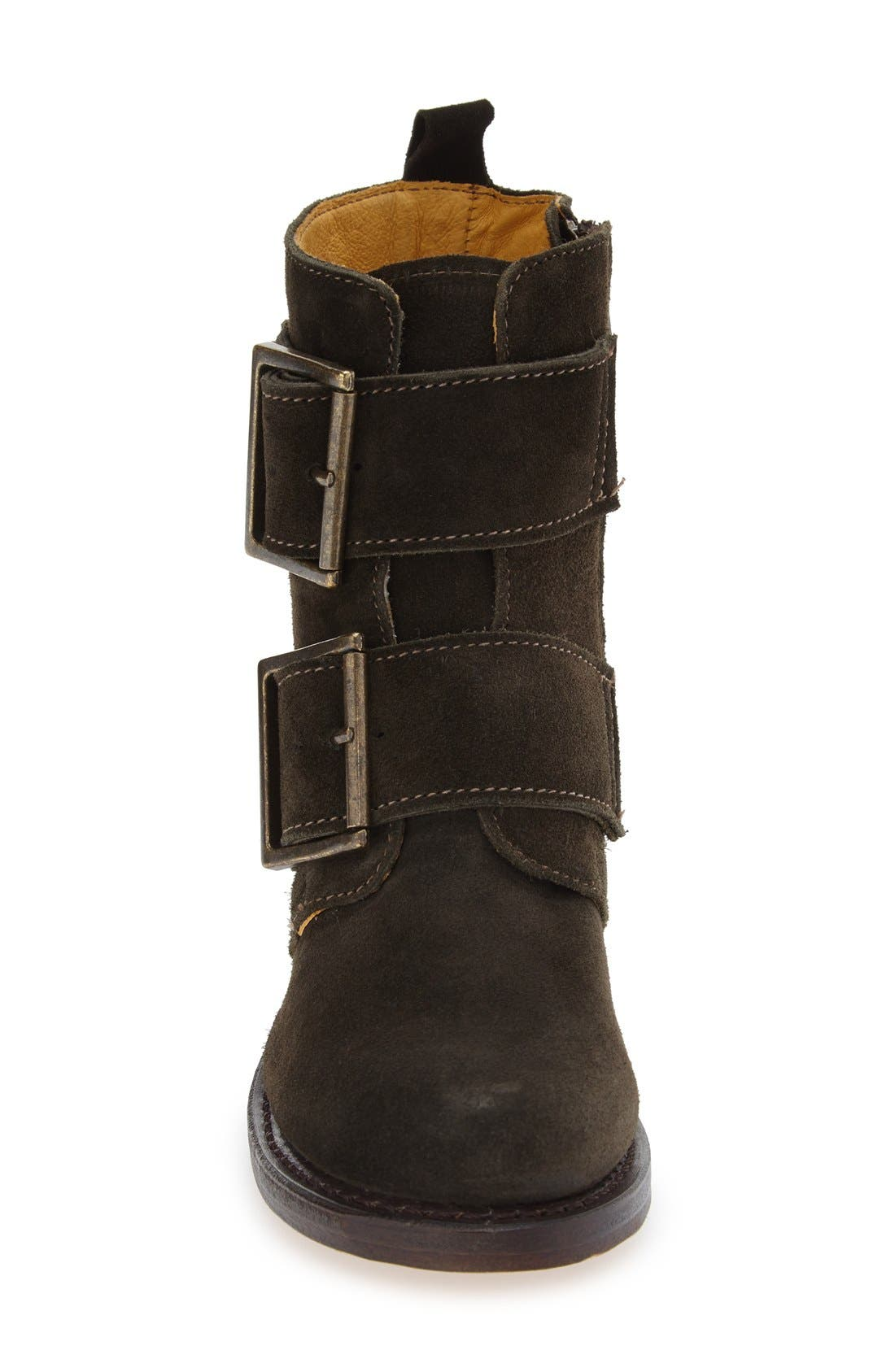'Sabrina' Double Buckle Boot,                             Alternate thumbnail 12, color,
