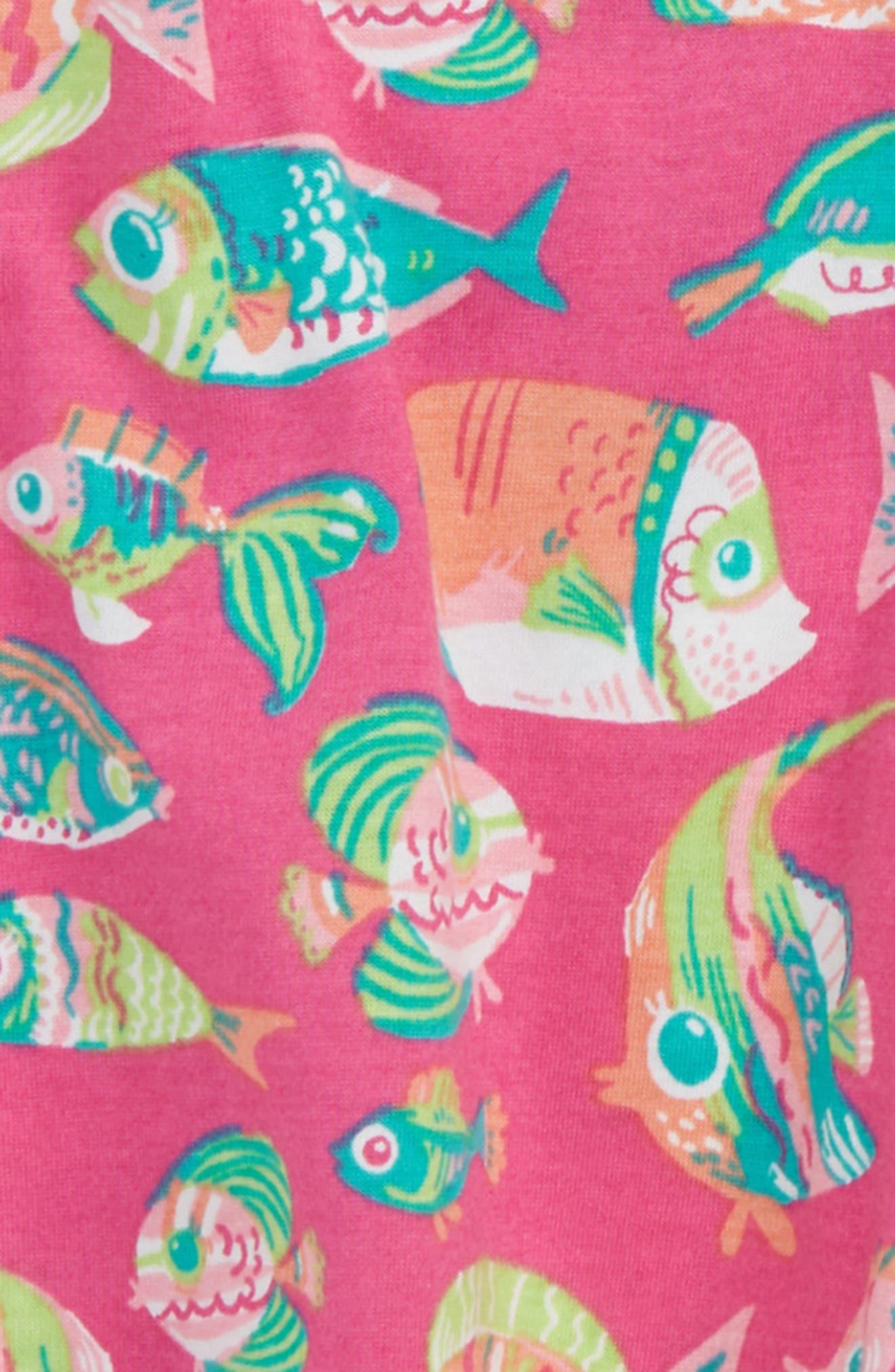 Fish Print Dress,                             Alternate thumbnail 2, color,                             650