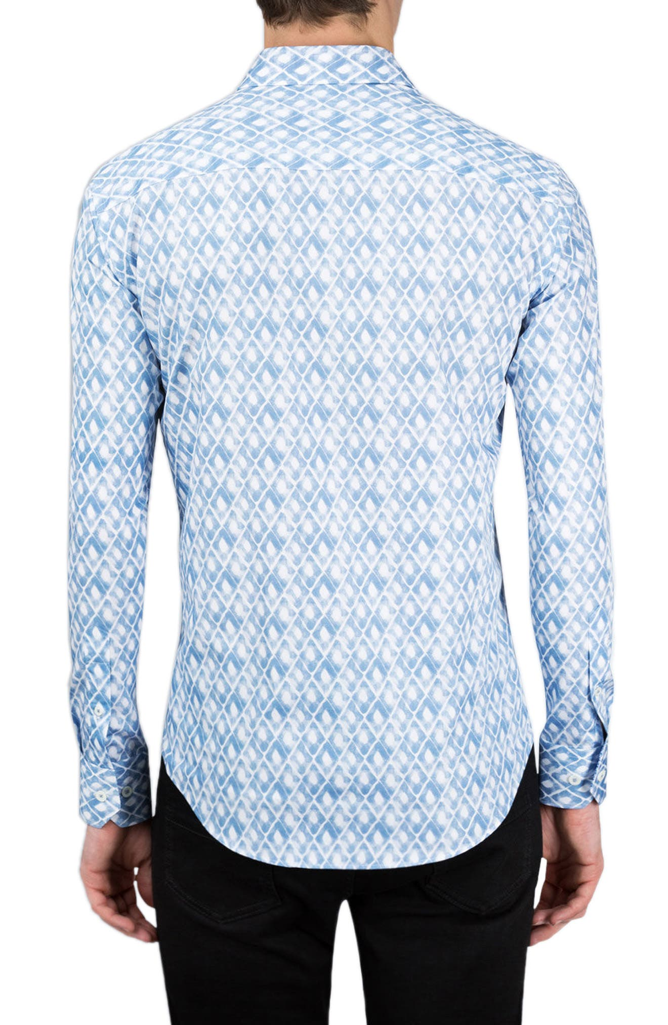 Classic Fit Abstract Print Sport Shirt,                             Alternate thumbnail 2, color,                             420