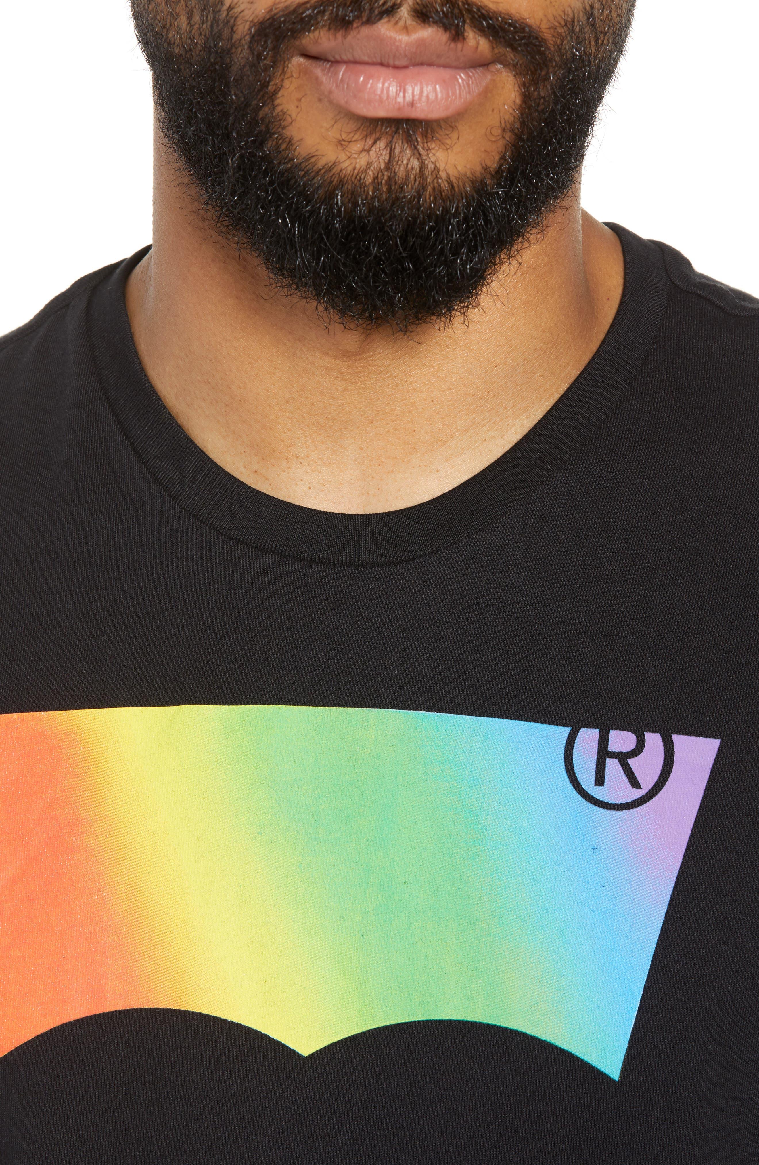 Community Sleeveless T-Shirt,                             Alternate thumbnail 4, color,                             RAINBOW GRADIENT BLACK