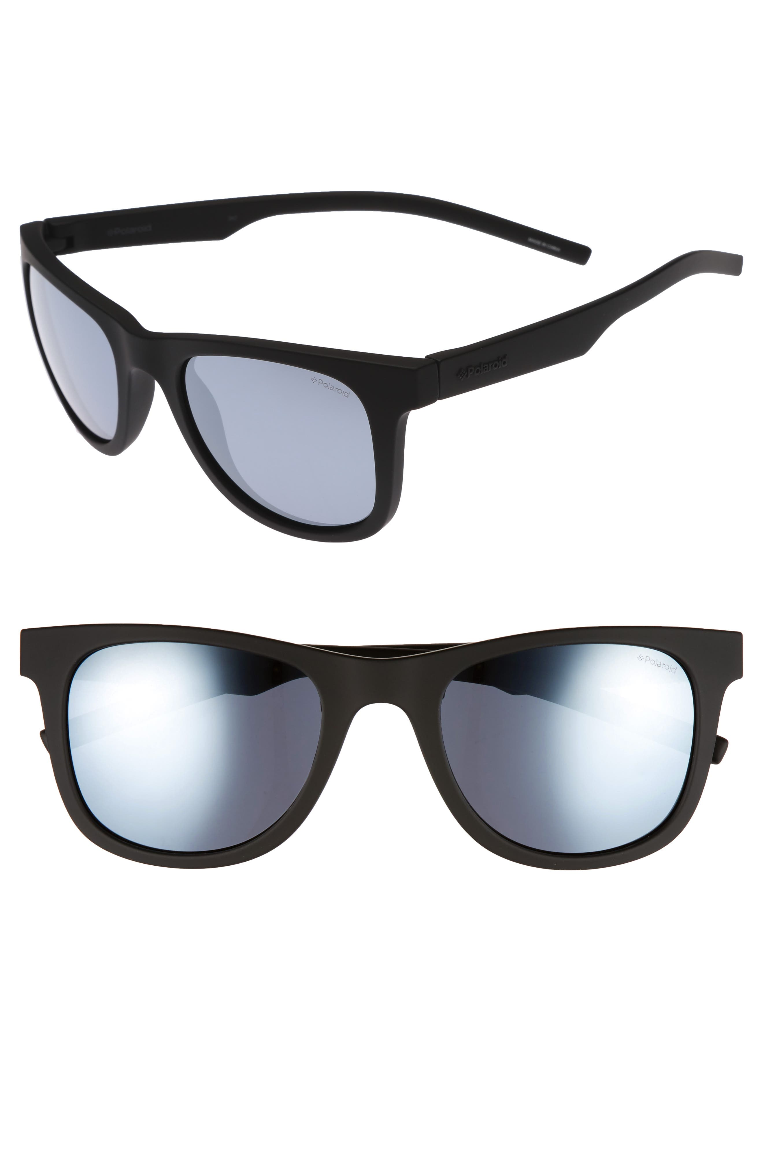 Polaroid 7020S 52mm Polarized Sunglasses,                             Main thumbnail 1, color,                             001