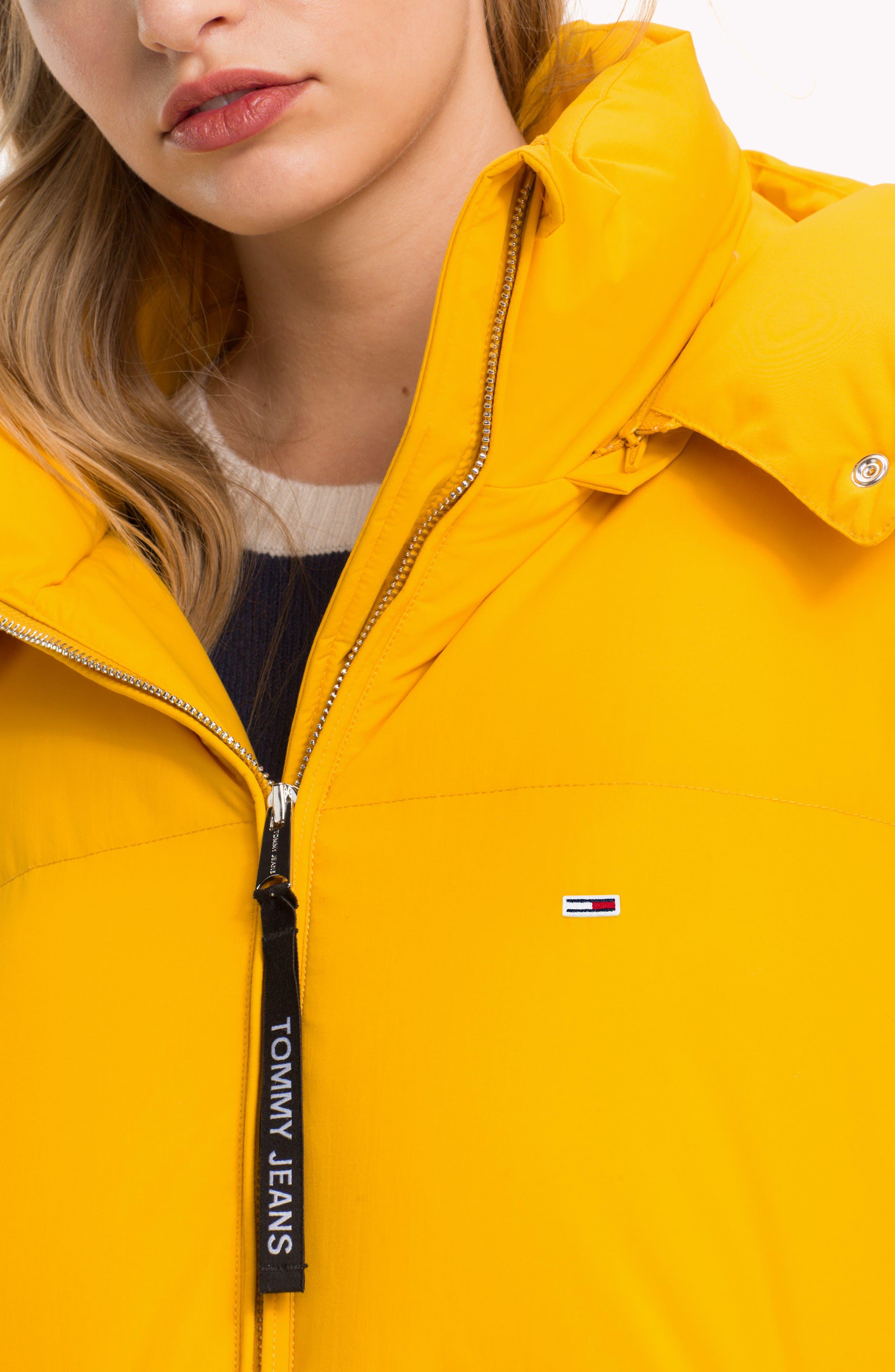 TJW Oversized Puffer Jacket,                             Alternate thumbnail 8, color,                             MANGO MOJITO