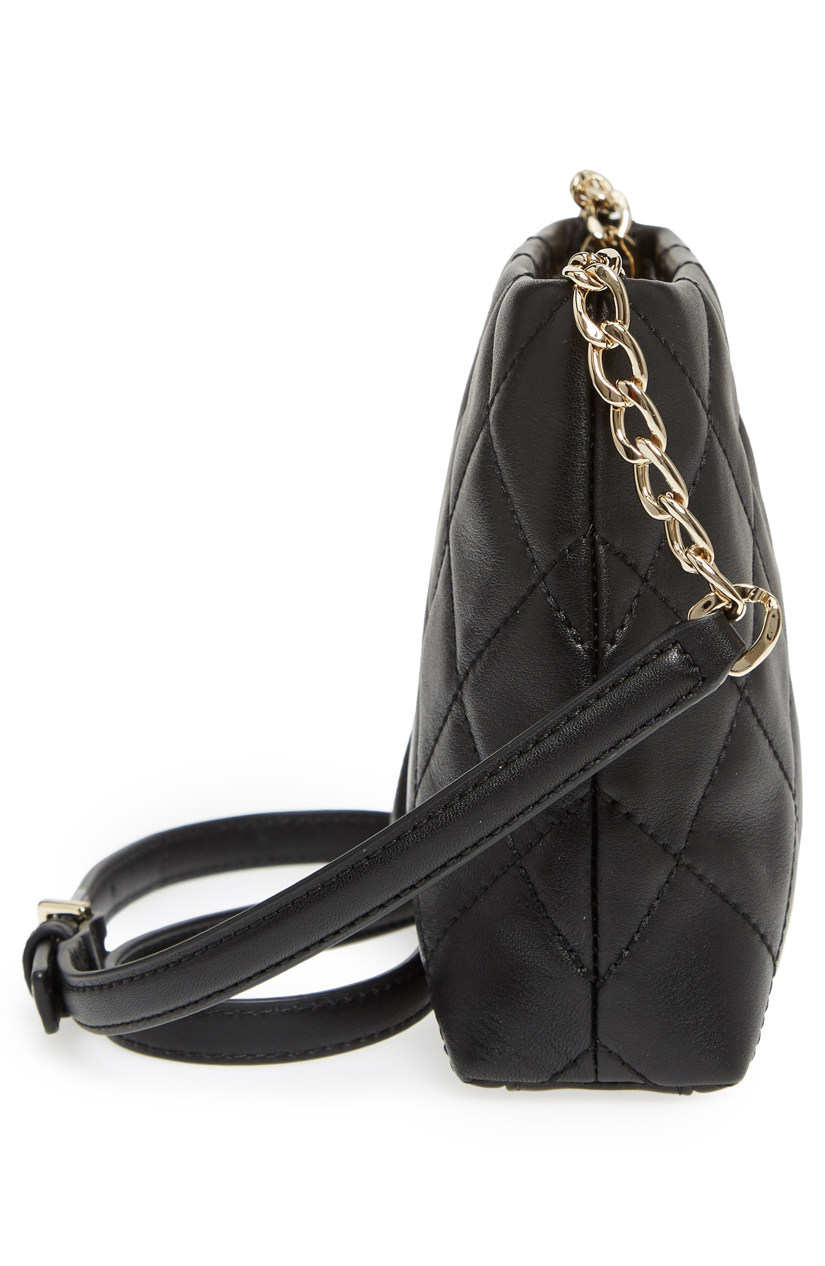 KATE SPADE NEW YORK,                             emerson place caterina leather crossbody bag,                             Alternate thumbnail 5, color,                             001