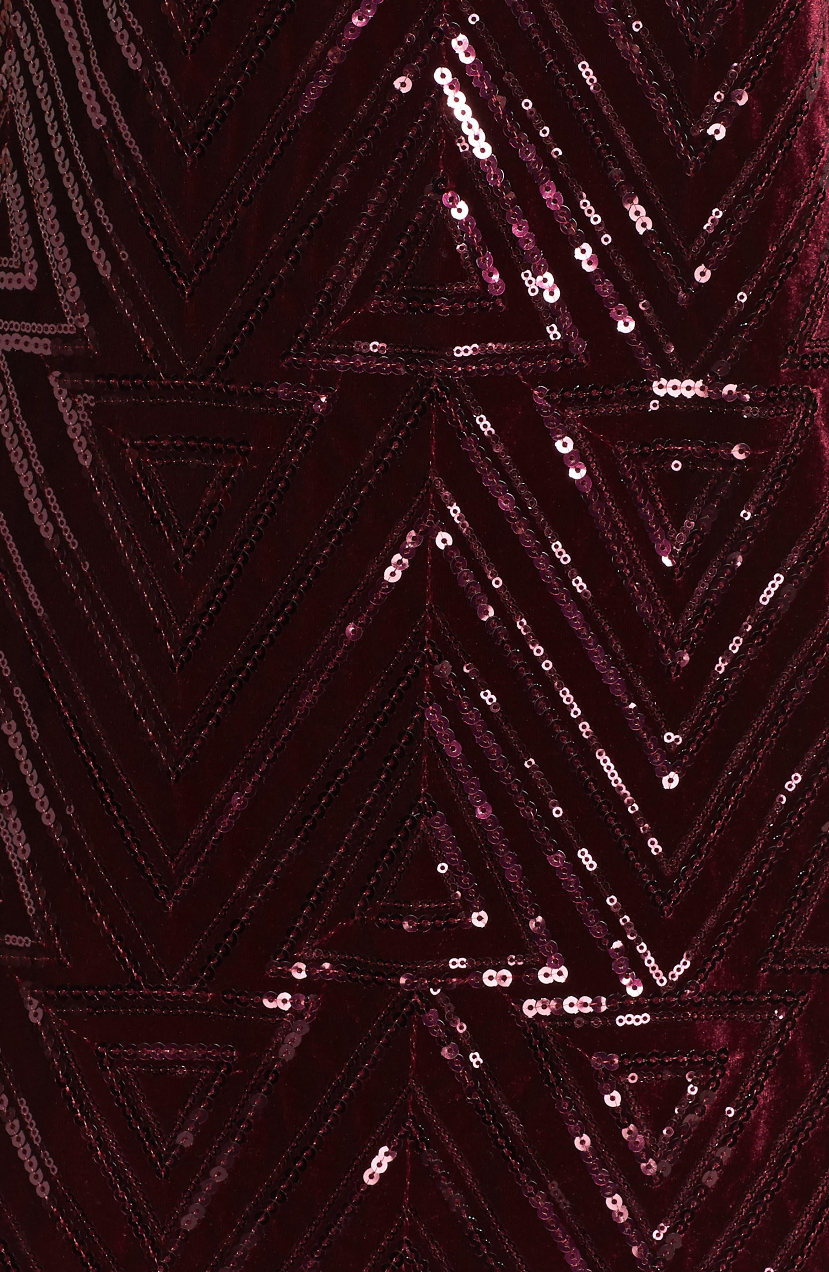 Sequin Sheath Dress,                             Alternate thumbnail 6, color,                             MAROON