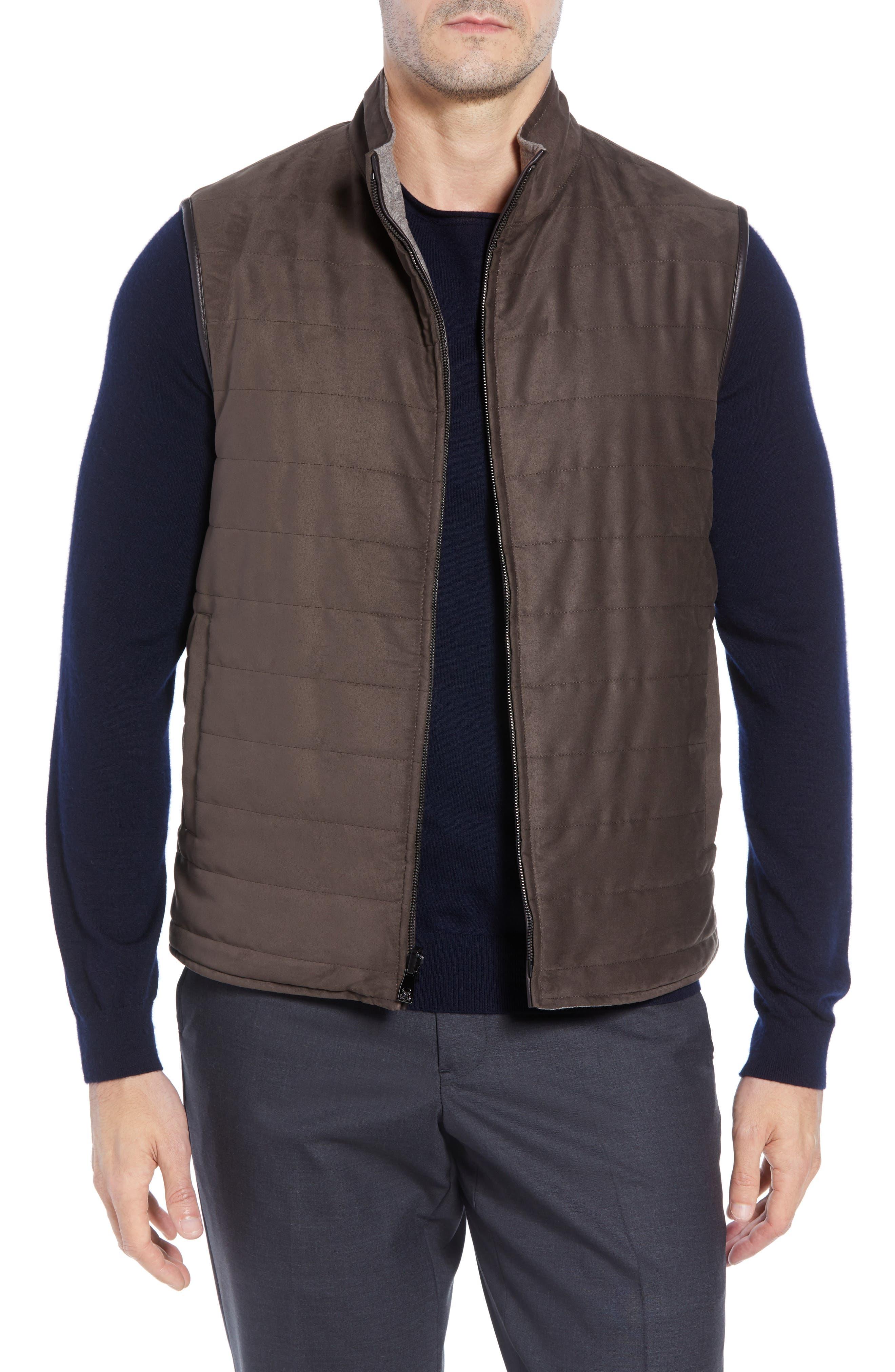 Classic Fit Reversible Vest,                             Alternate thumbnail 2, color,                             SAND