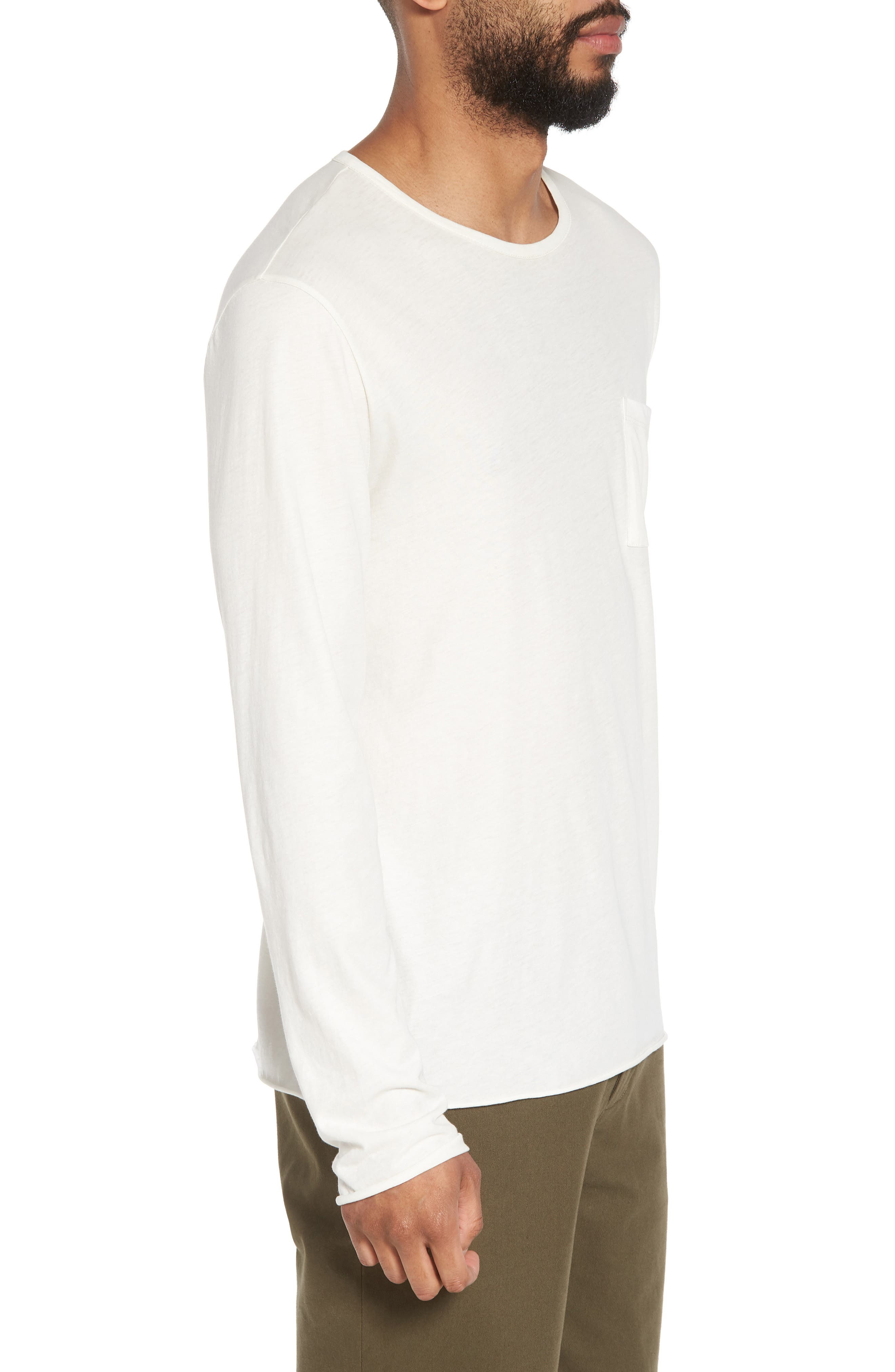 Slim Fit Stripe Pocket T-Shirt,                             Alternate thumbnail 10, color,