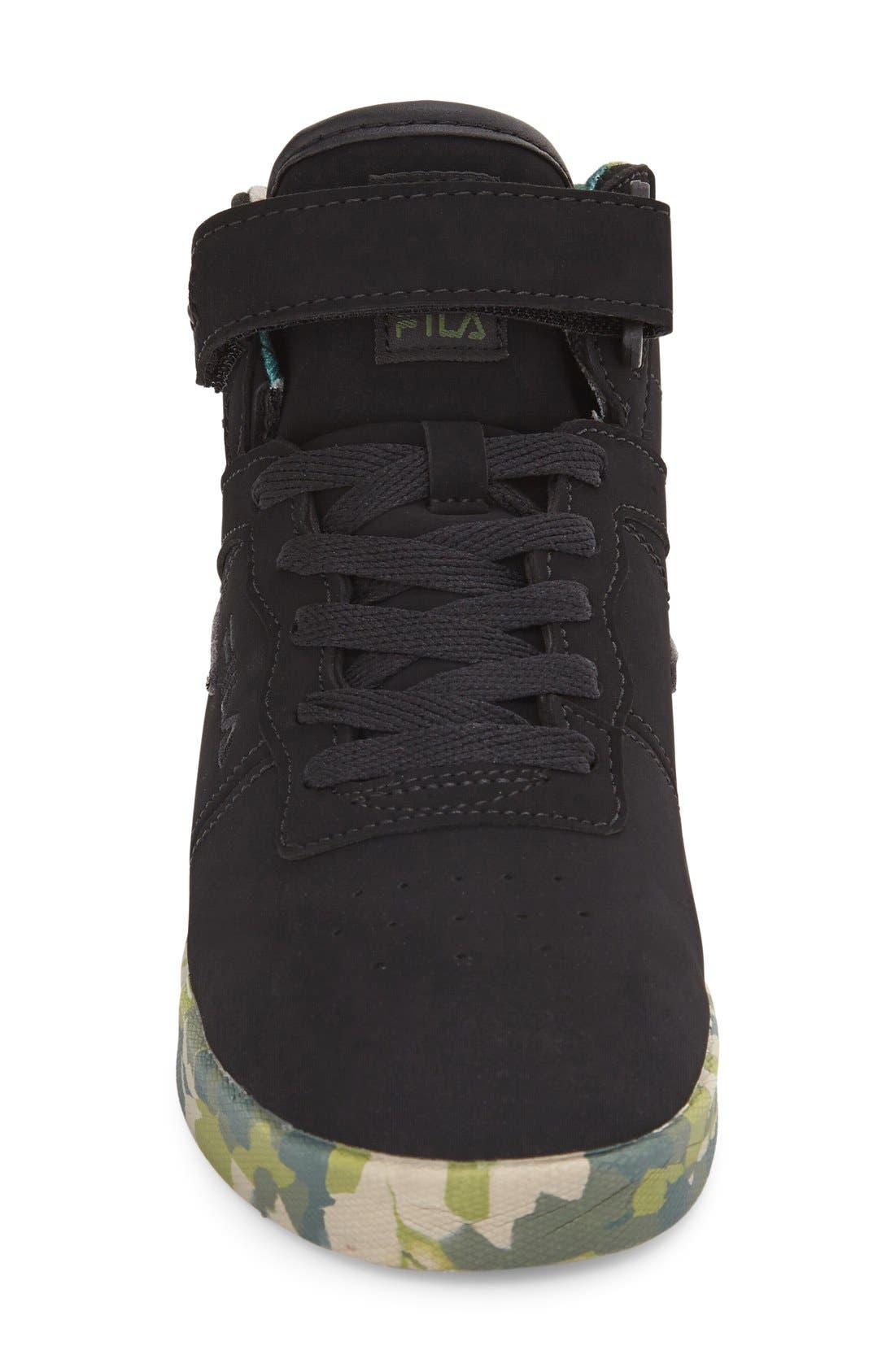 Vulc 13 Mashup High Top Sneaker,                             Alternate thumbnail 3, color,                             001