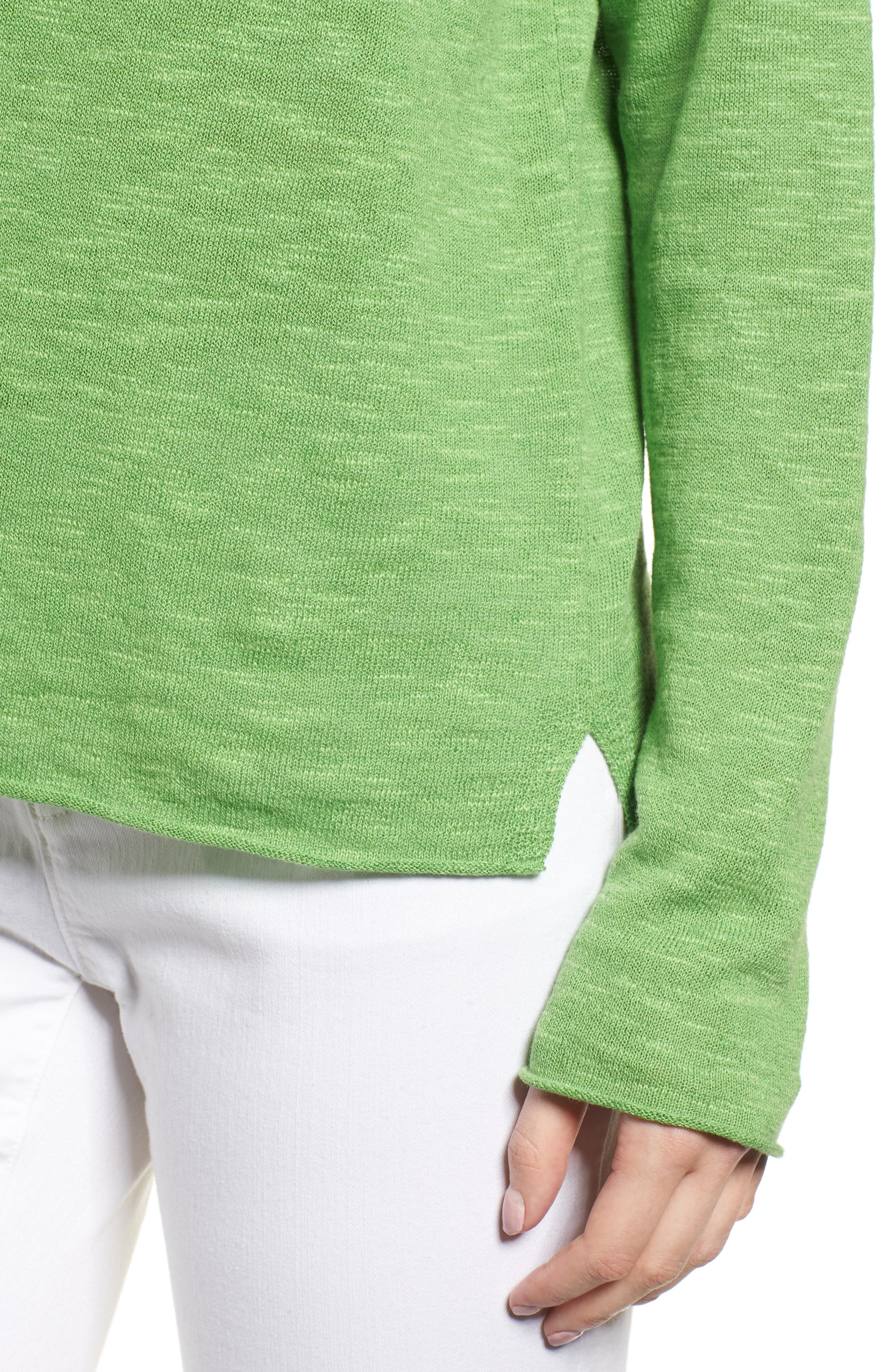 Boxy Organic Linen & Cotton Sweater,                             Alternate thumbnail 15, color,
