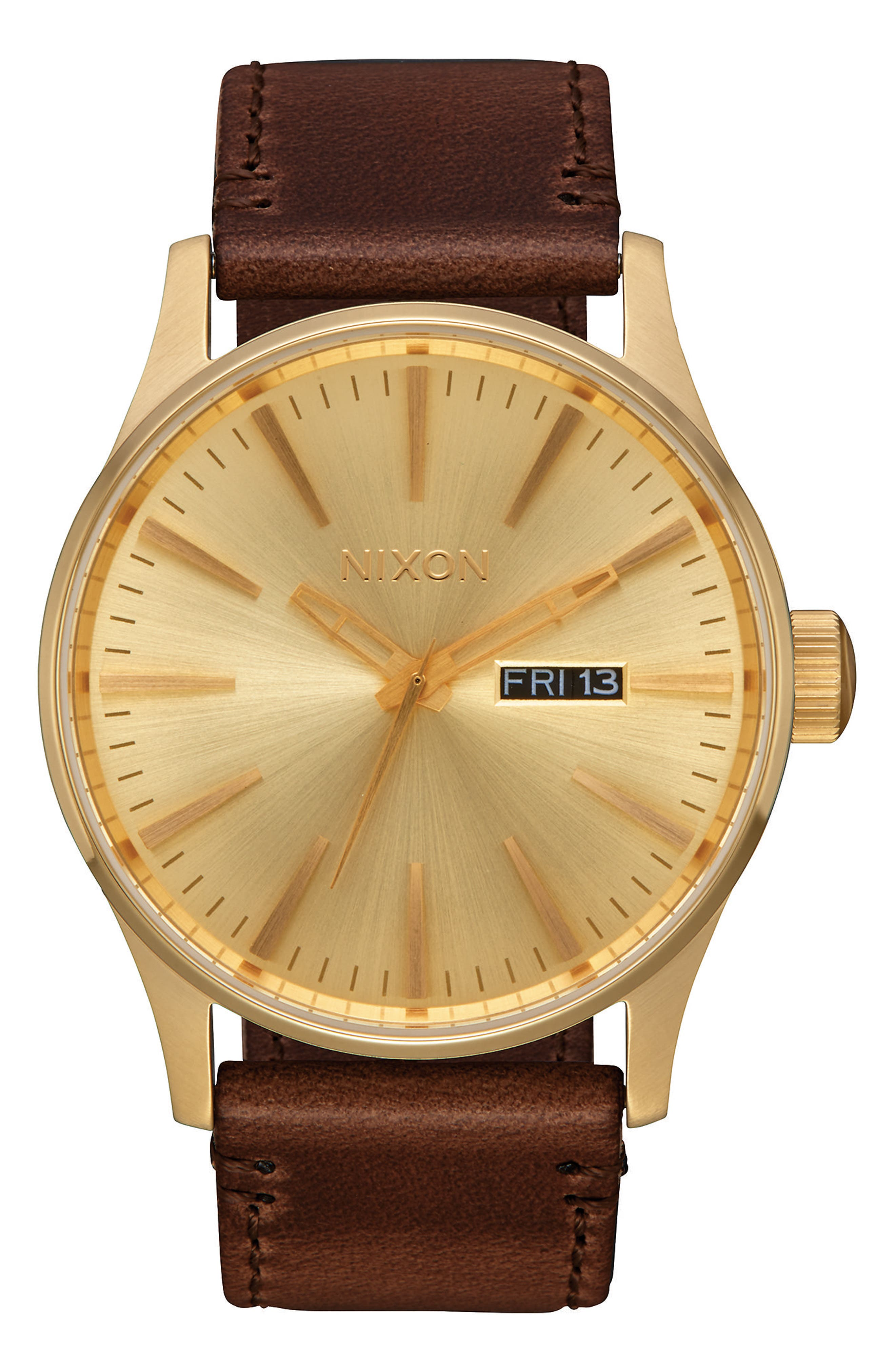 The Sentry Leather Strap Watch, 42mm,                             Alternate thumbnail 39, color,