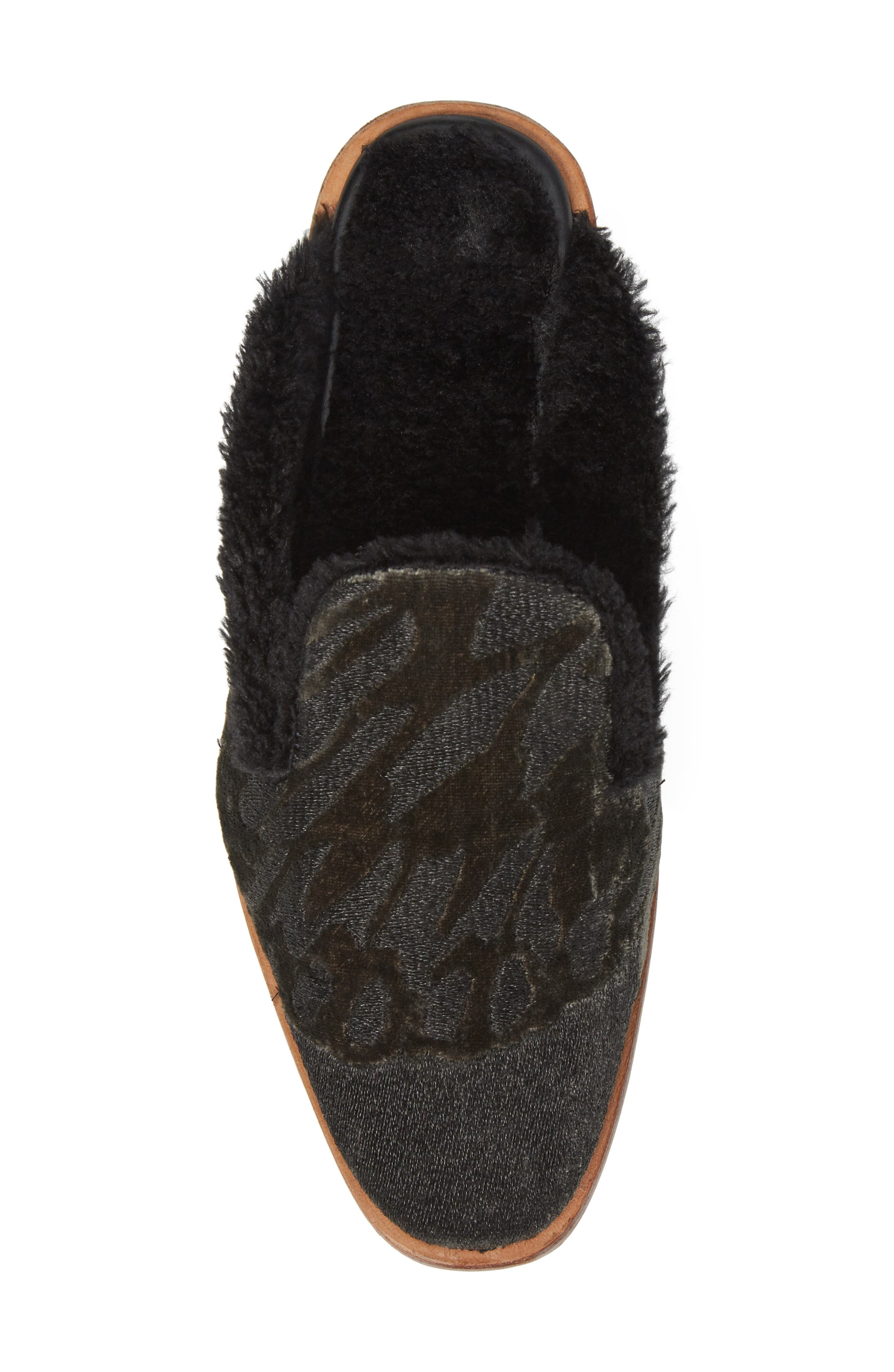 Butterfly Faux Fur Lined Mule,                             Alternate thumbnail 5, color,                             020