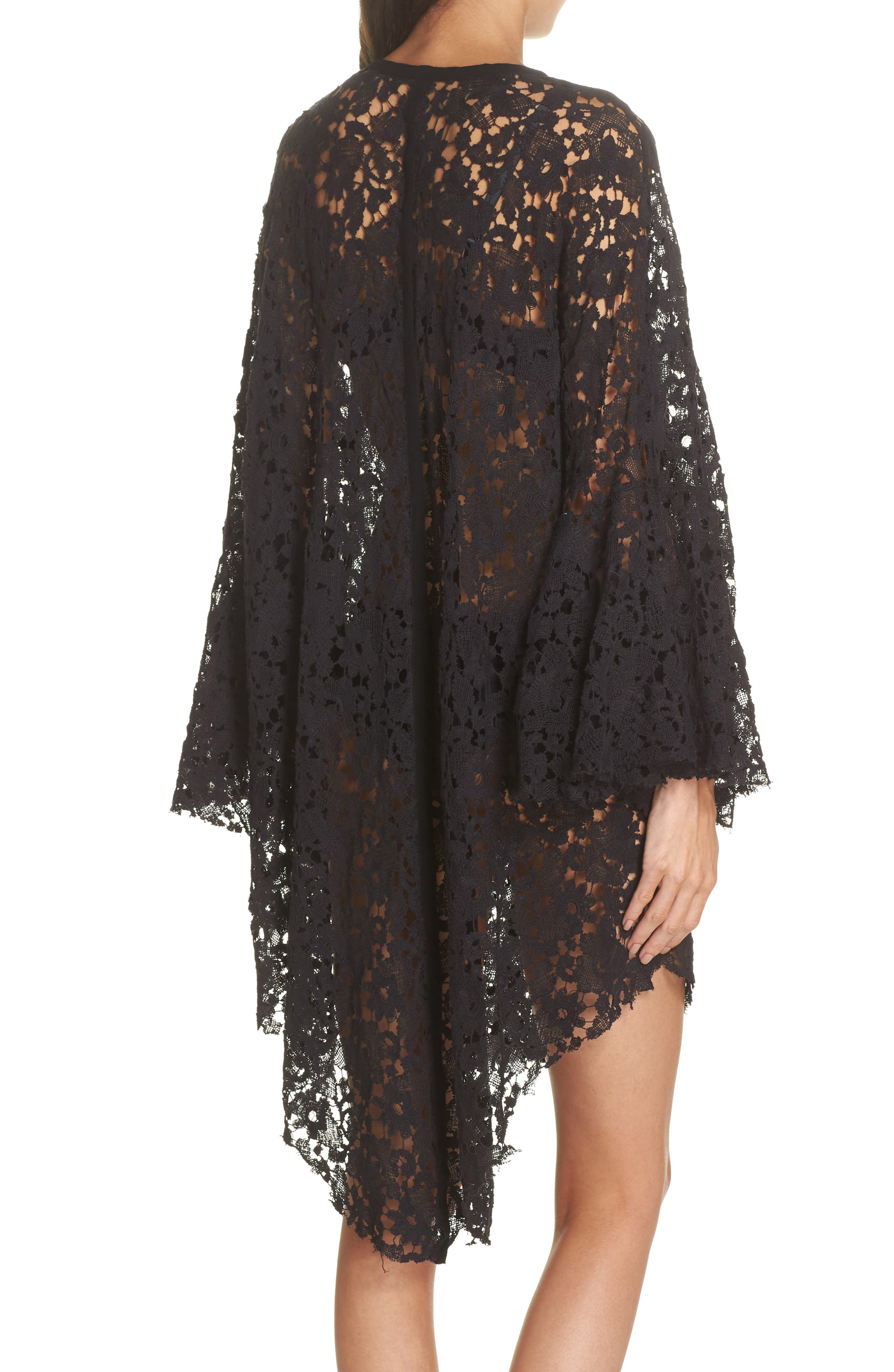 FREE PEOPLE,                             Move Over Lace Wrap,                             Alternate thumbnail 2, color,                             BLACK