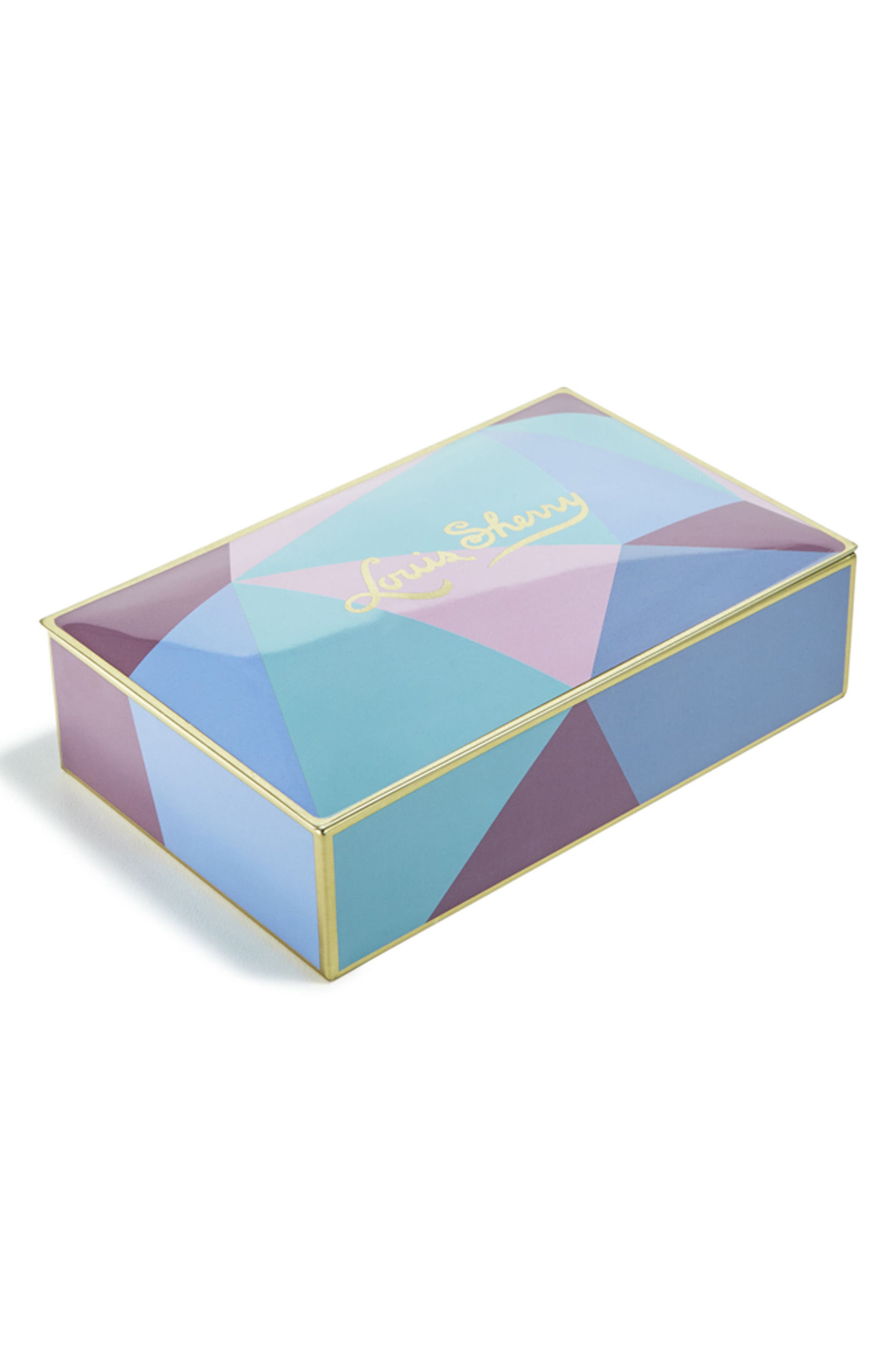 Miles Redd Cubist 12-Piece Chocolate Truffle Tin,                             Main thumbnail 1, color,                             BLUE MULTI