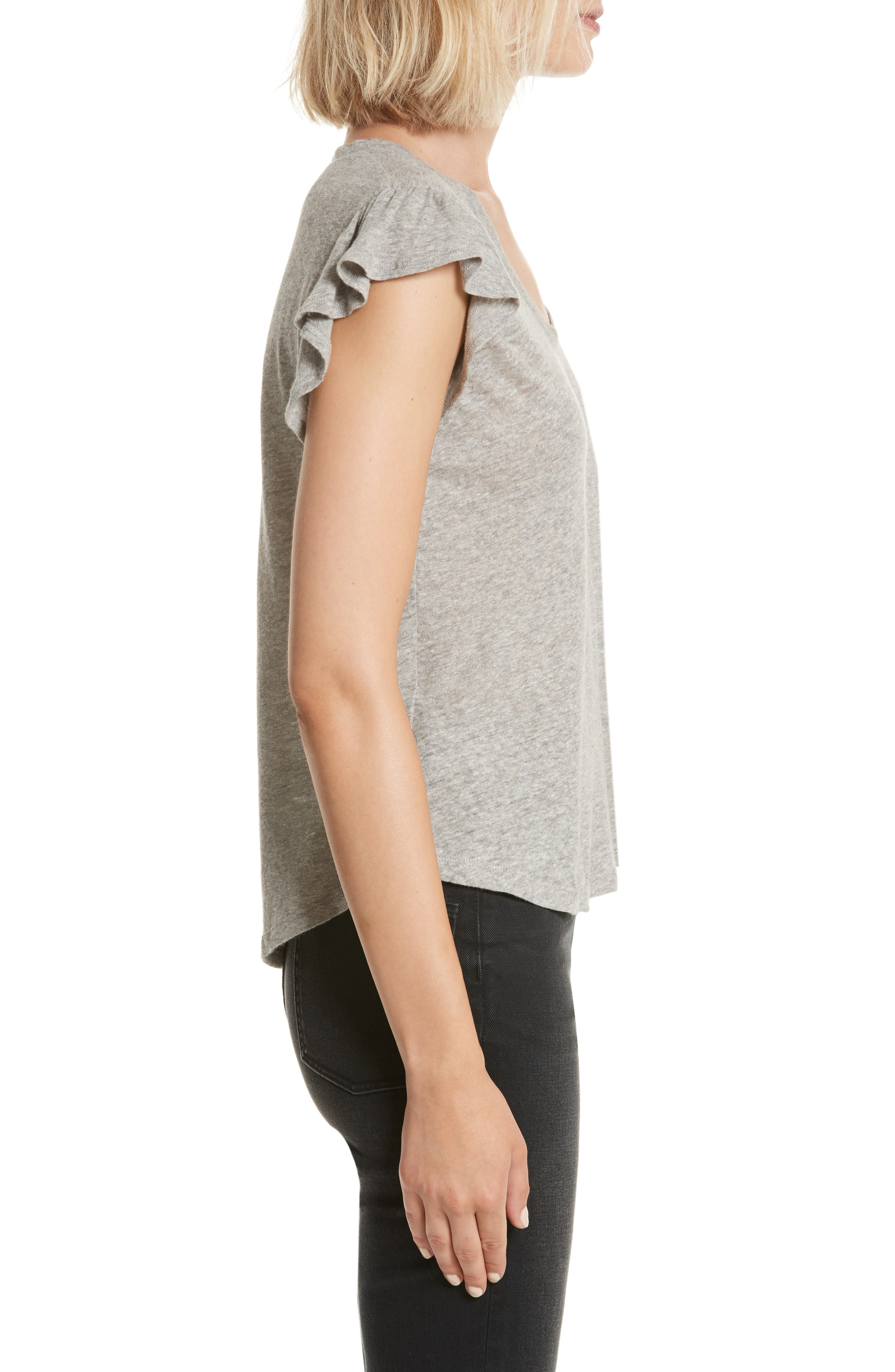 Washed Texture Jersey Tee,                             Alternate thumbnail 3, color,                             GREY HEATHER