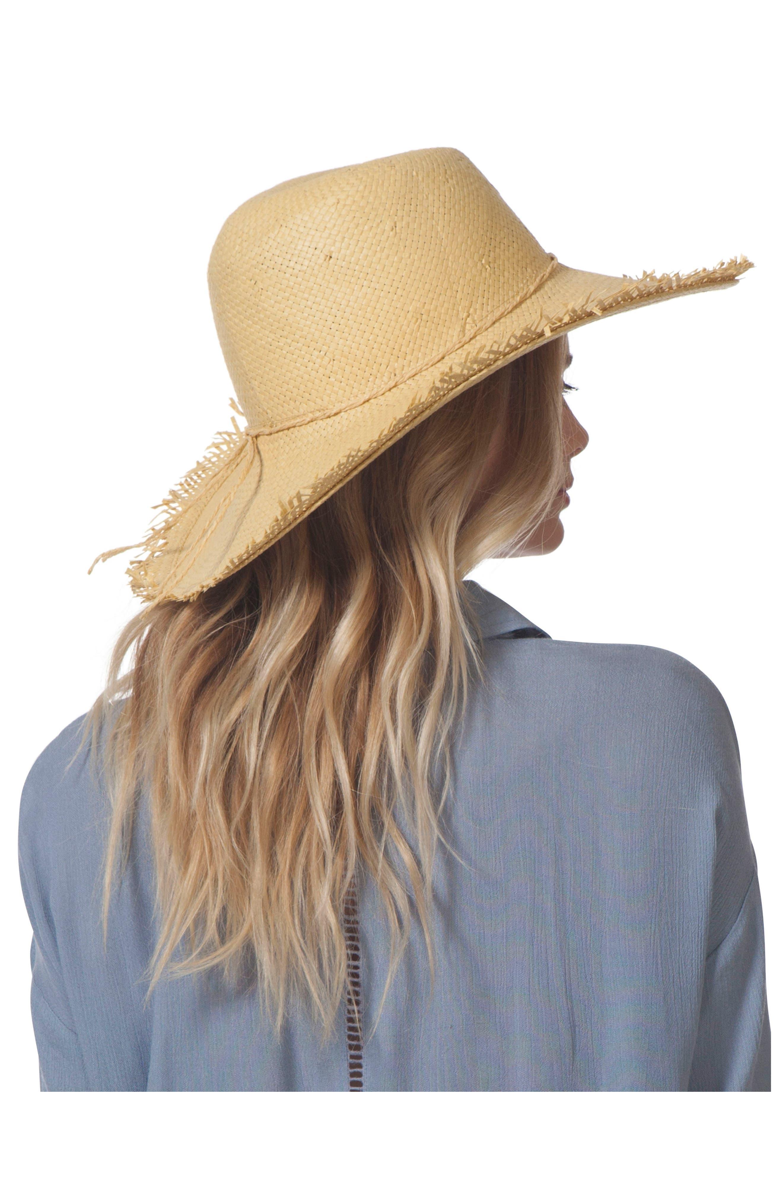 Sandy Boho Straw Hat,                             Alternate thumbnail 2, color,                             250