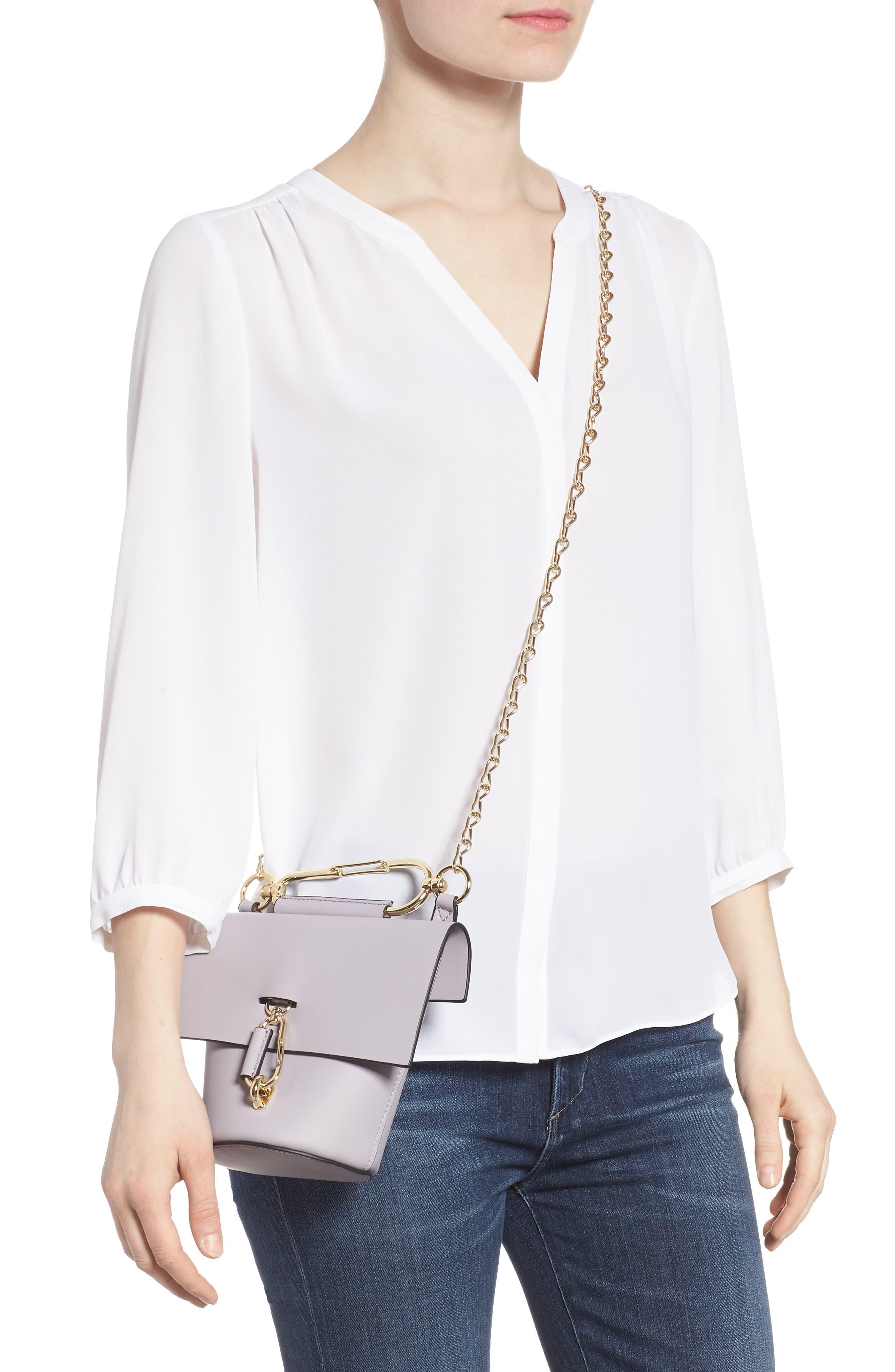 Belay Chain Calfskin Leather Crossbody Bag,                             Alternate thumbnail 7, color,