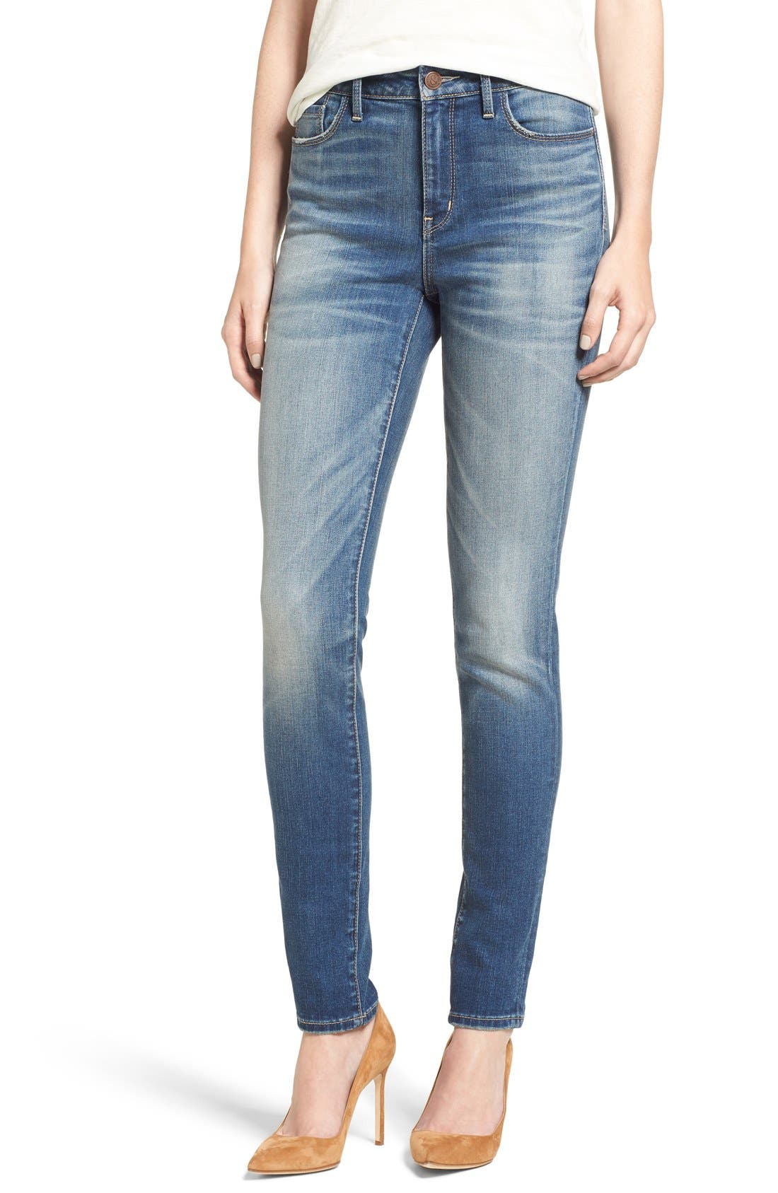 High Waist Skinny Jeans,                             Alternate thumbnail 11, color,                             400