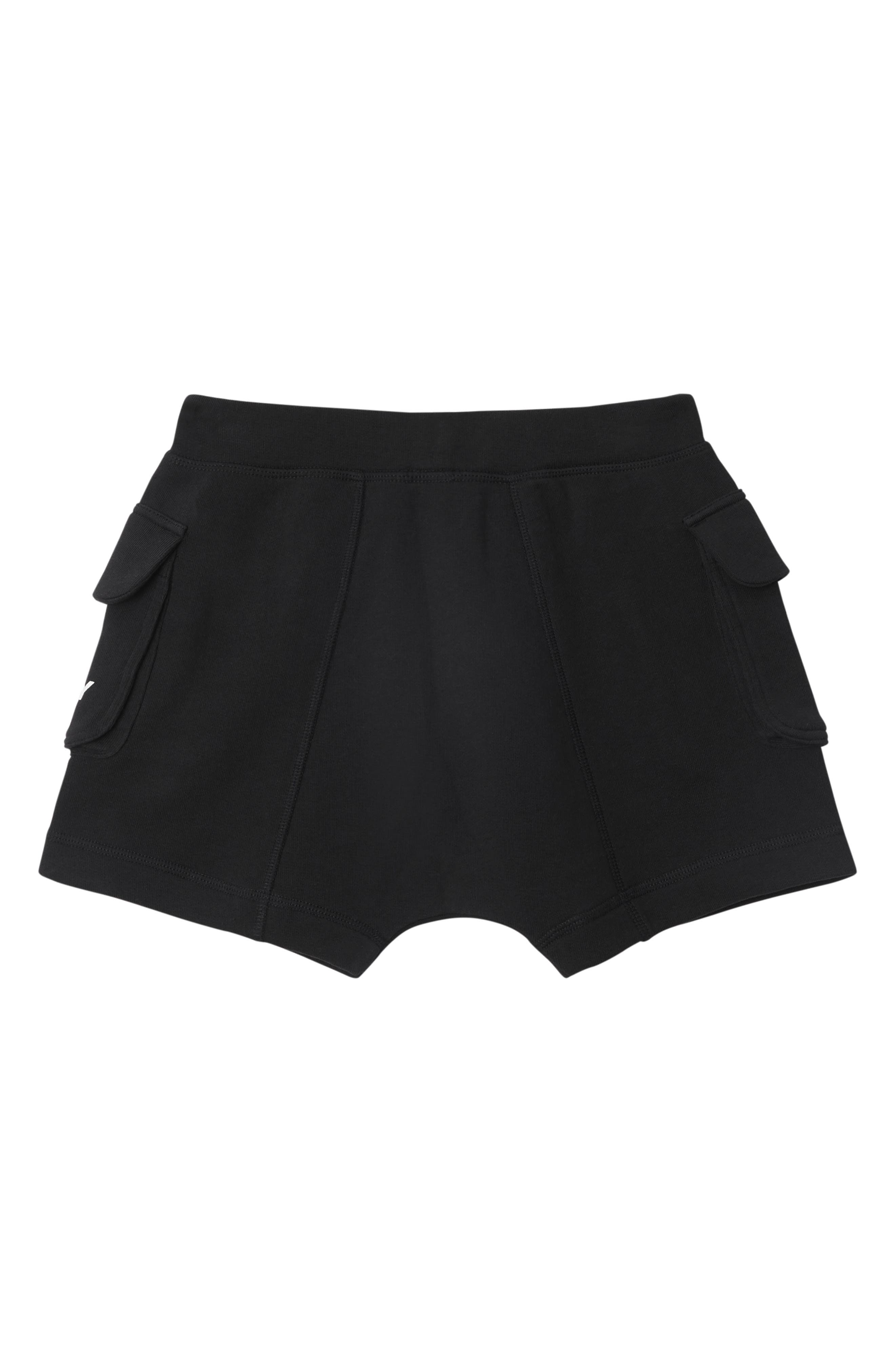 BURBERRY,                             Knit Shorts,                             Alternate thumbnail 2, color,                             BLACK