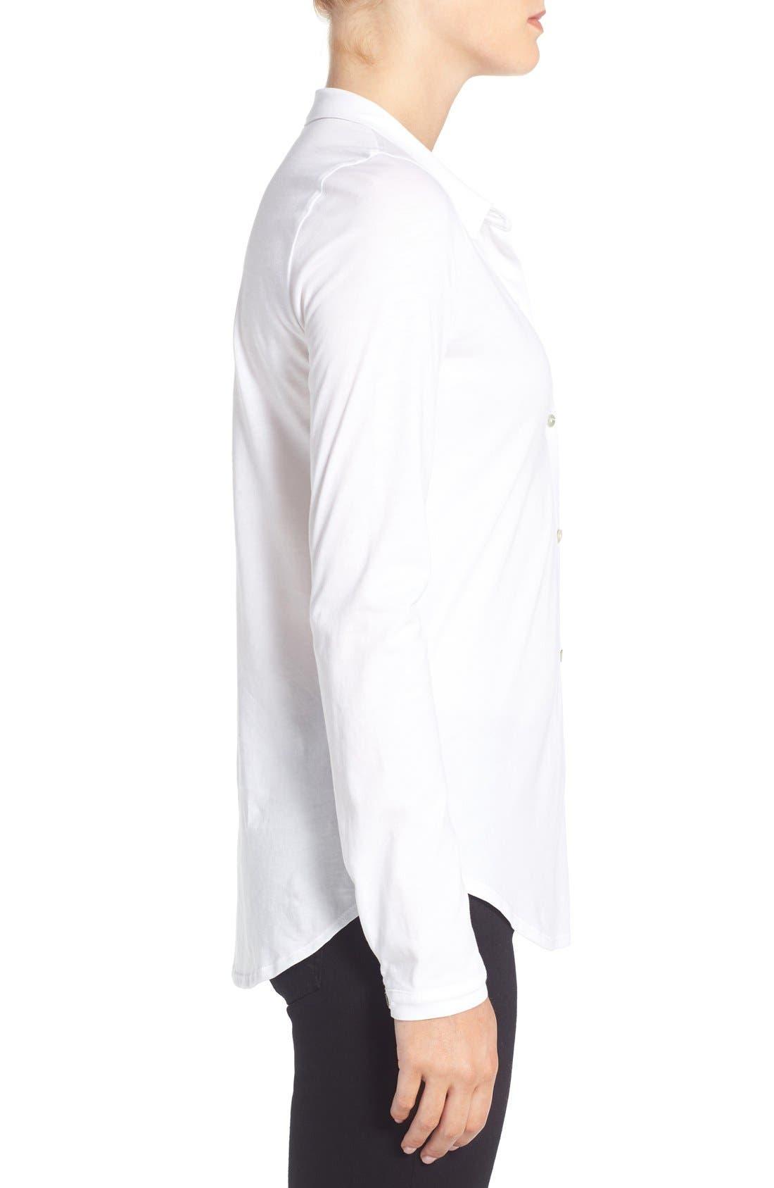 Organic Cotton Jersey Classic Collar Shirt,                             Alternate thumbnail 11, color,
