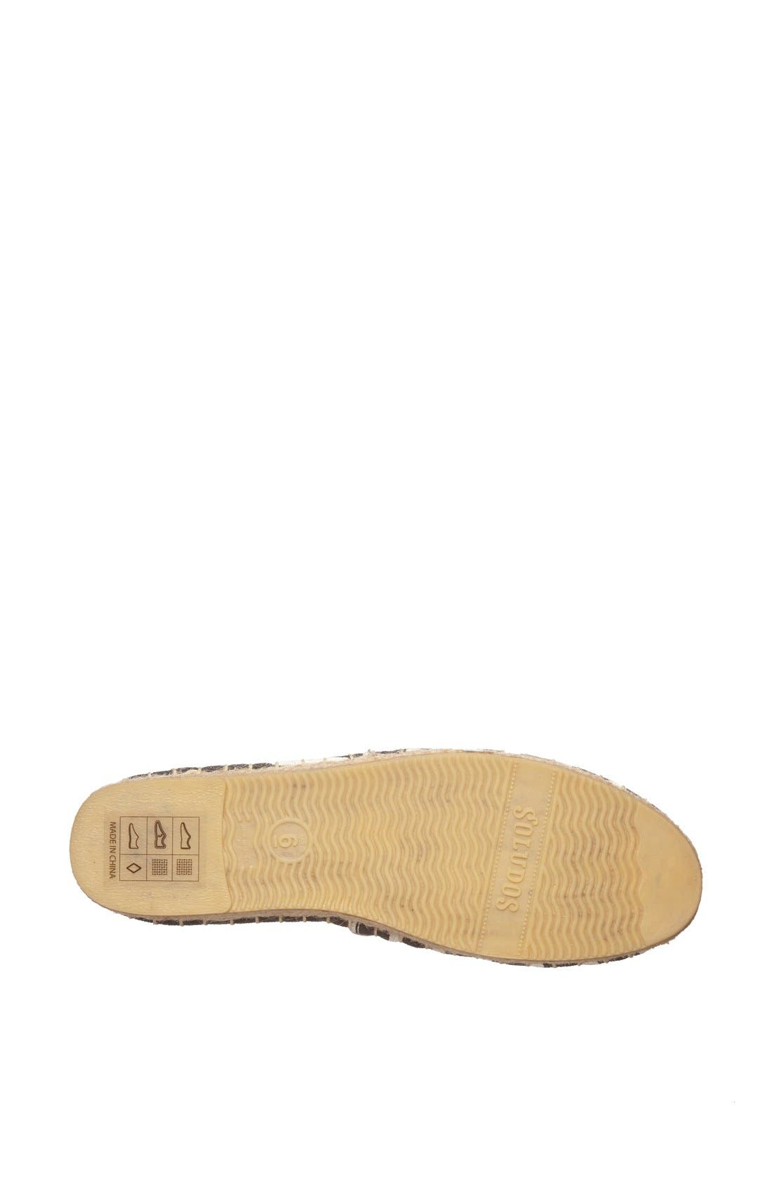 'Classic' Espadrille Slip-On,                             Alternate thumbnail 4, color,                             001