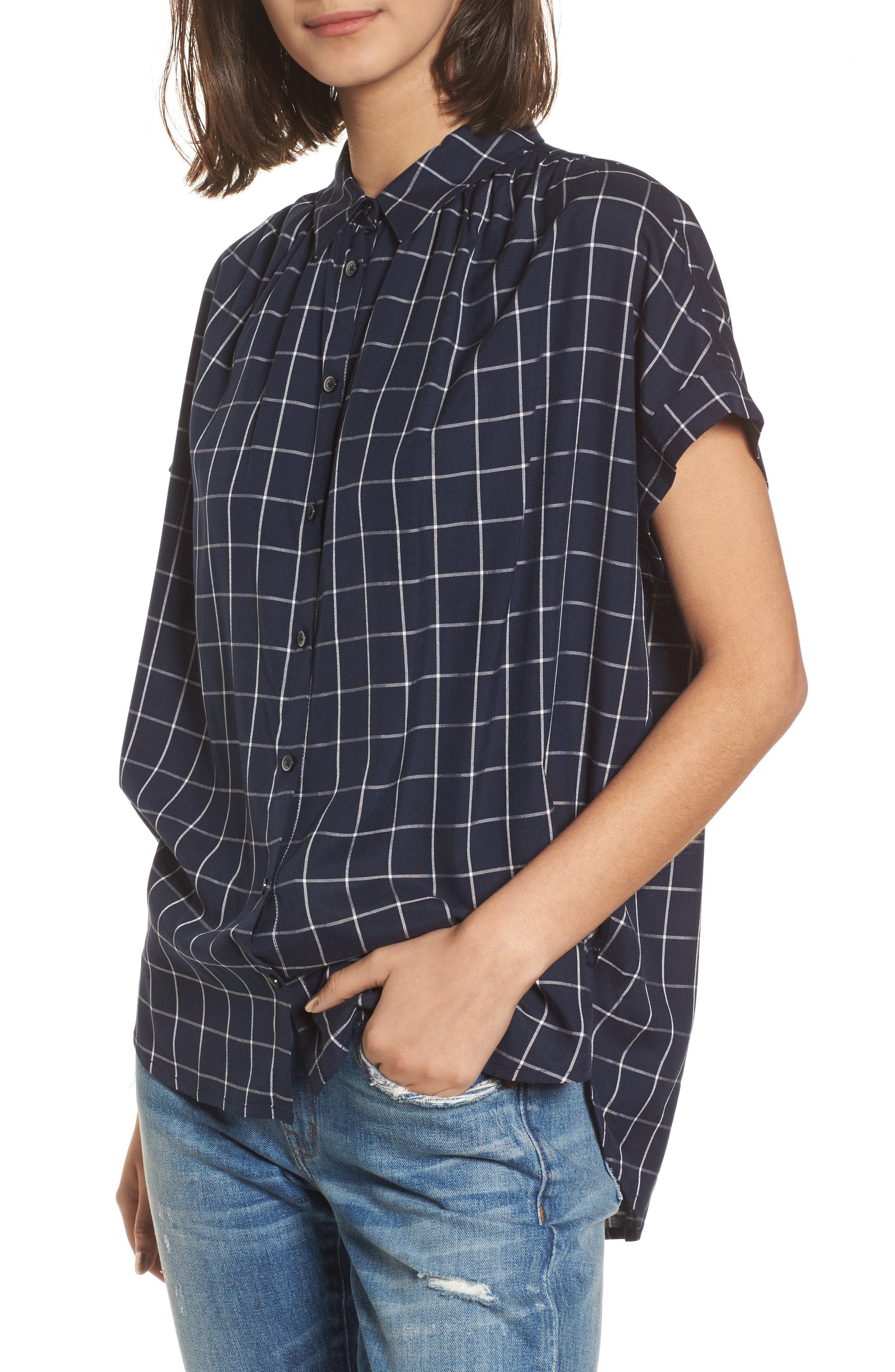 Central Windowpane Check Shirt,                         Main,                         color, 490