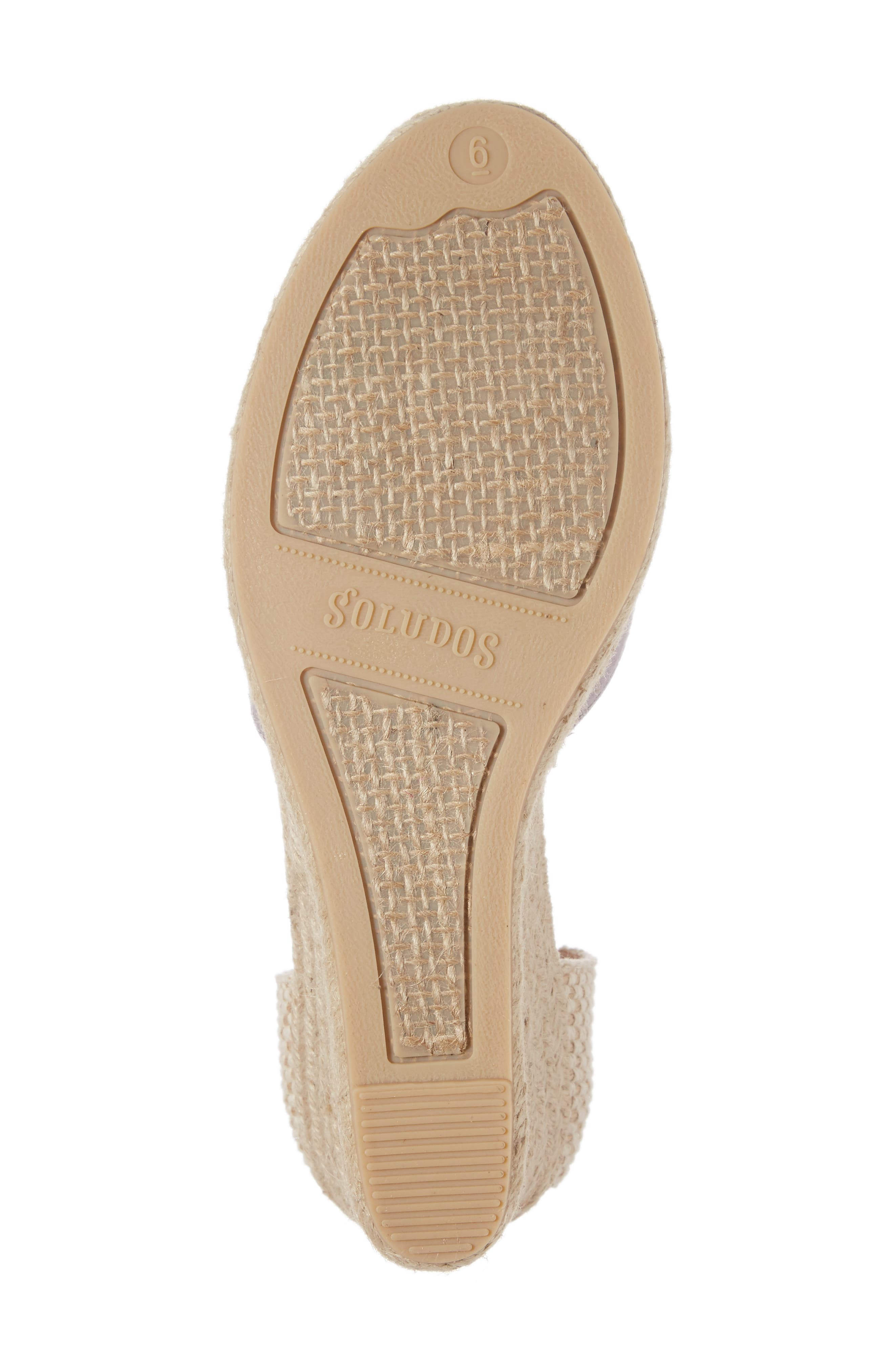 Tall Wedge Espadrille,                             Alternate thumbnail 6, color,                             020