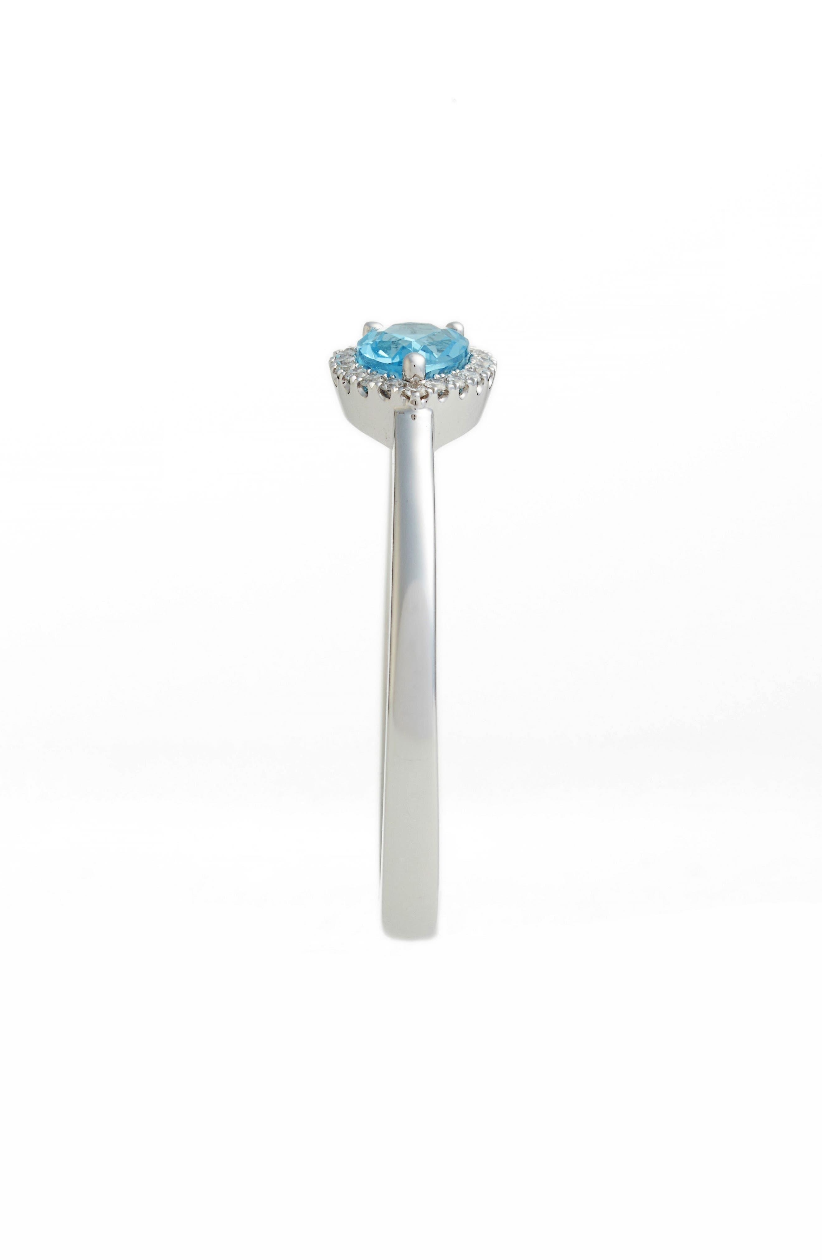 Iris Diamond & Semiprecious Stone Teardrop Ring,                             Alternate thumbnail 3, color,