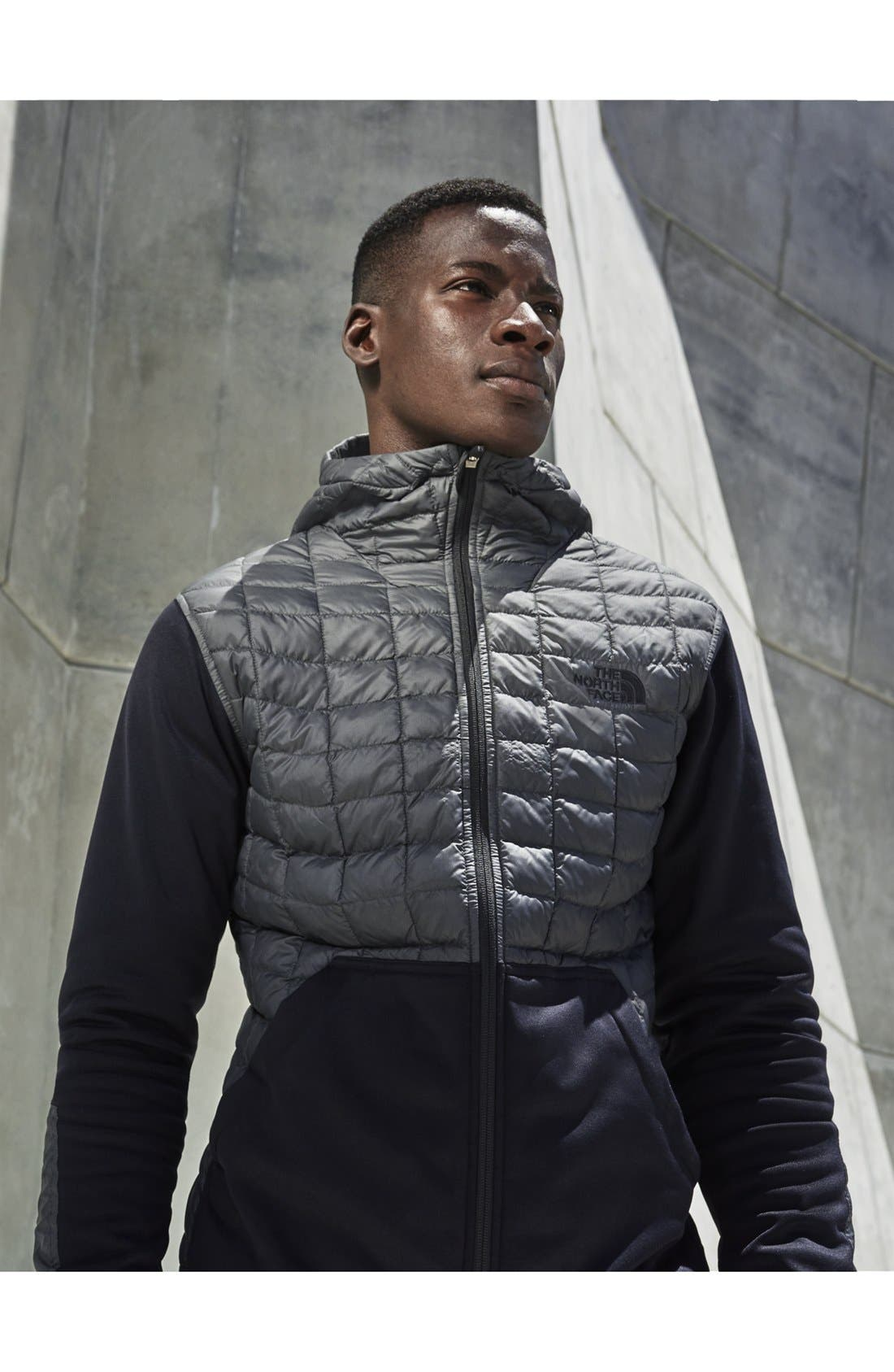 THE NORTH FACE,                             'Kilowatt' ThermoBall PrimaLoft<sup>®</sup> Hooded Jacket,                             Alternate thumbnail 3, color,                             001